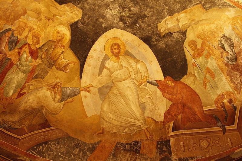 Harrowing of Hades , fresco in the parecclesion of the Chora Church, Istanbul, c. 1315  © José Luiz Bernardes Ribeiro /  CC BY-SA 3.0