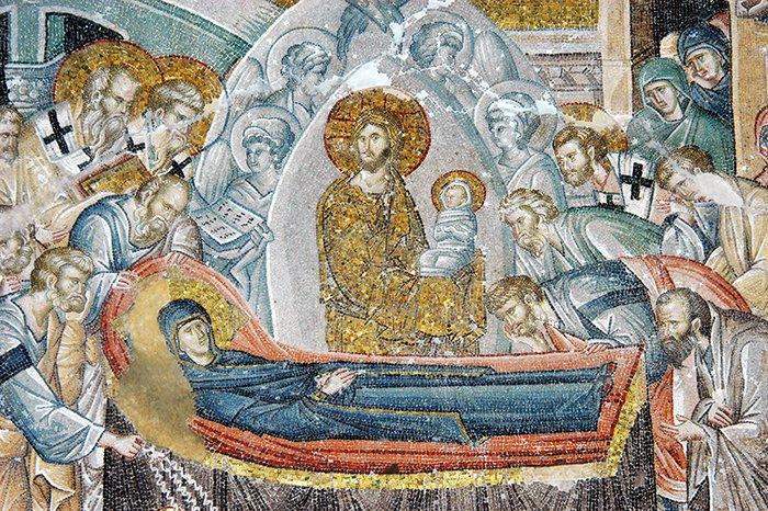 Koimesis Mosaic at the Chora Church, Constantinople.