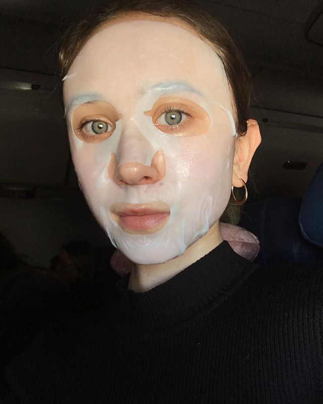 When you take extra to new heights! Literally. Did a mask high in the sky✈️