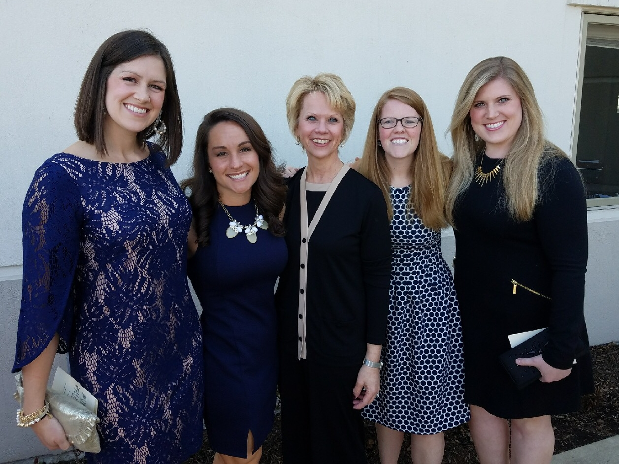 Linda (center) with her mentees