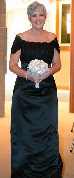 Detail of lace wrap added to the gown. Mother of bride.jpg