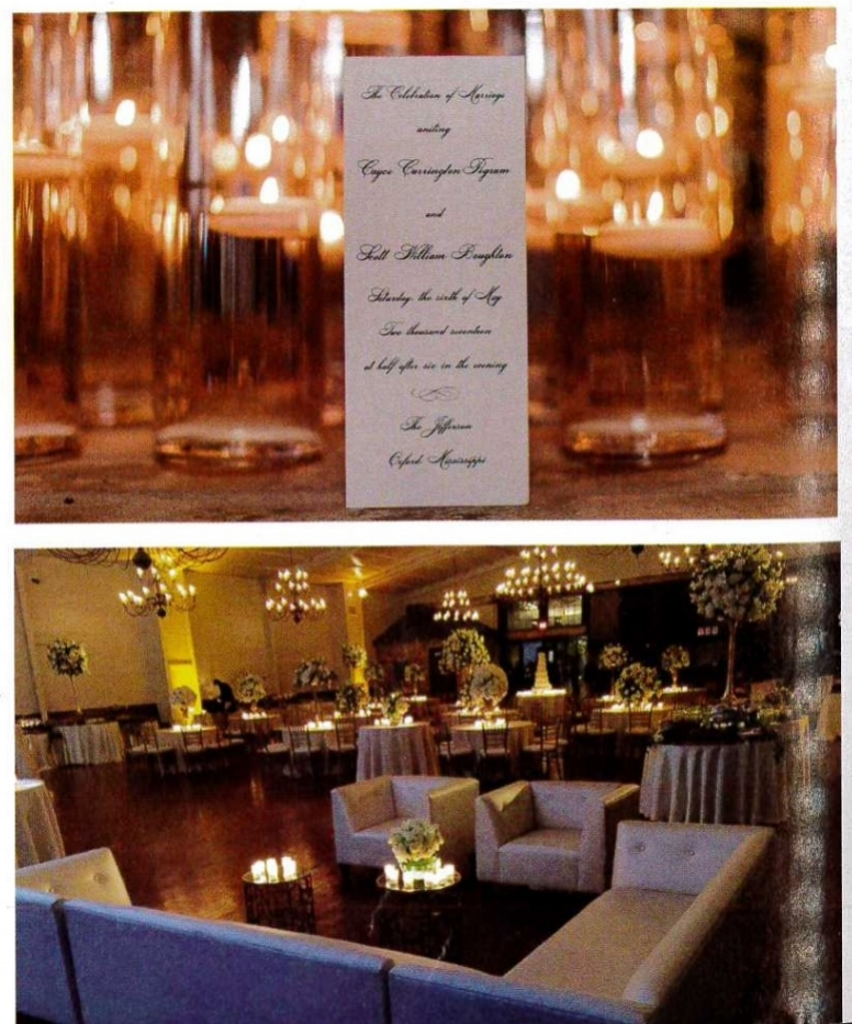 Top:  Pegram/boughton wedding at the jefferson.  bottom: garraway/Owen Wedding at The Jefferson.