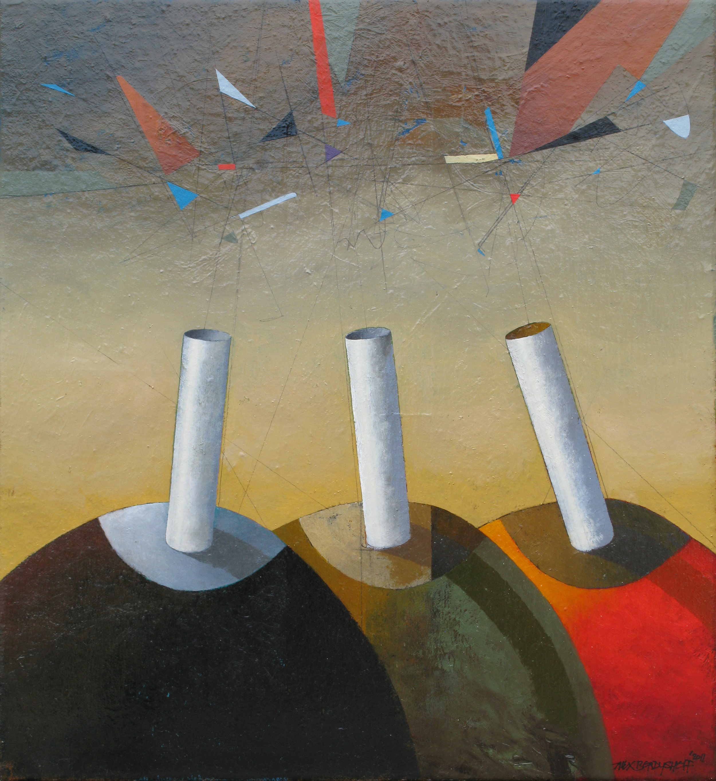 Opinions, oil on canvas, 60x55 cm, 2011