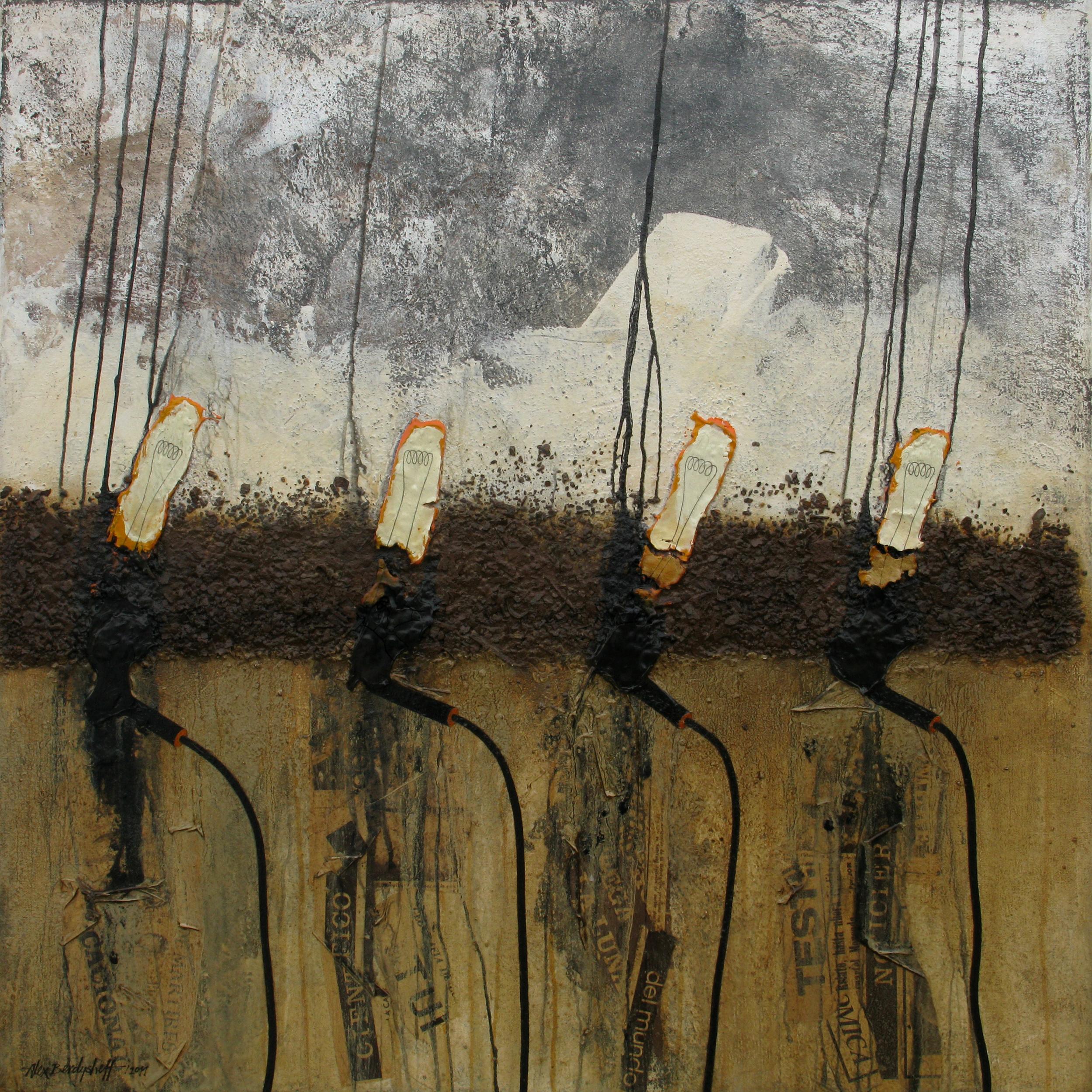 Light Bulbs, oil on canvas, 85x85 cm, 2011
