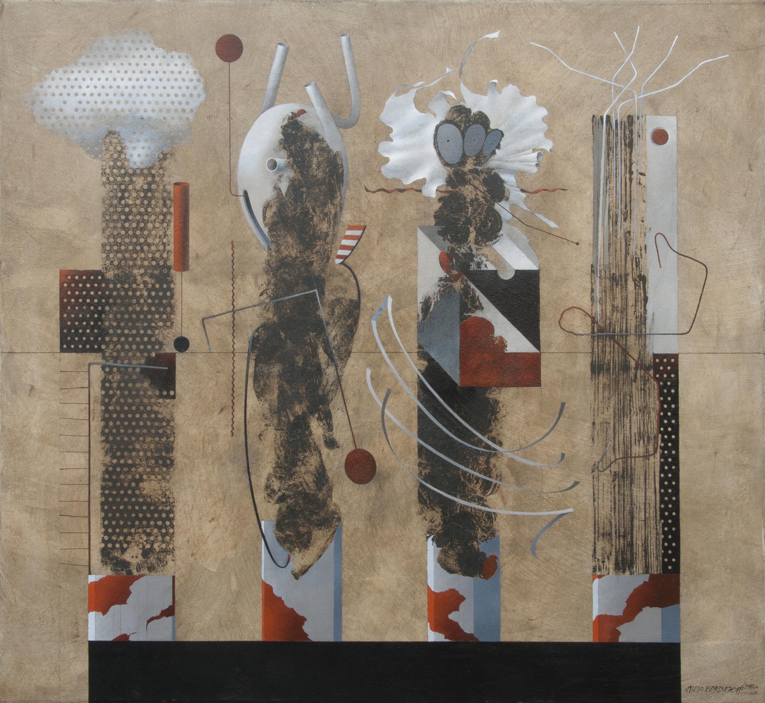 Evidences, oil on canvas, 110x120 cm, 2012