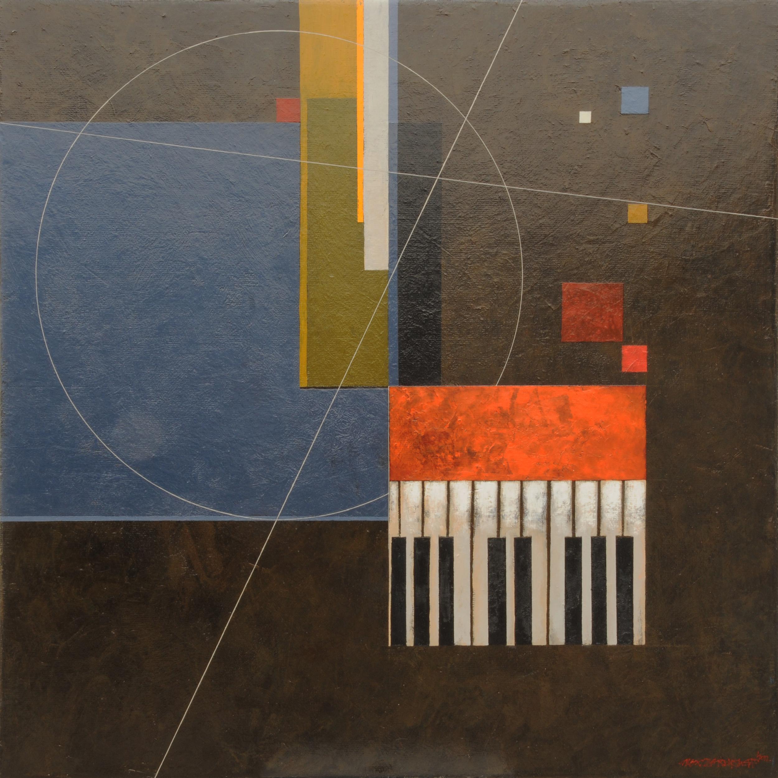 Jazz Hour, oil on canvas, 85x85 cm, 2012