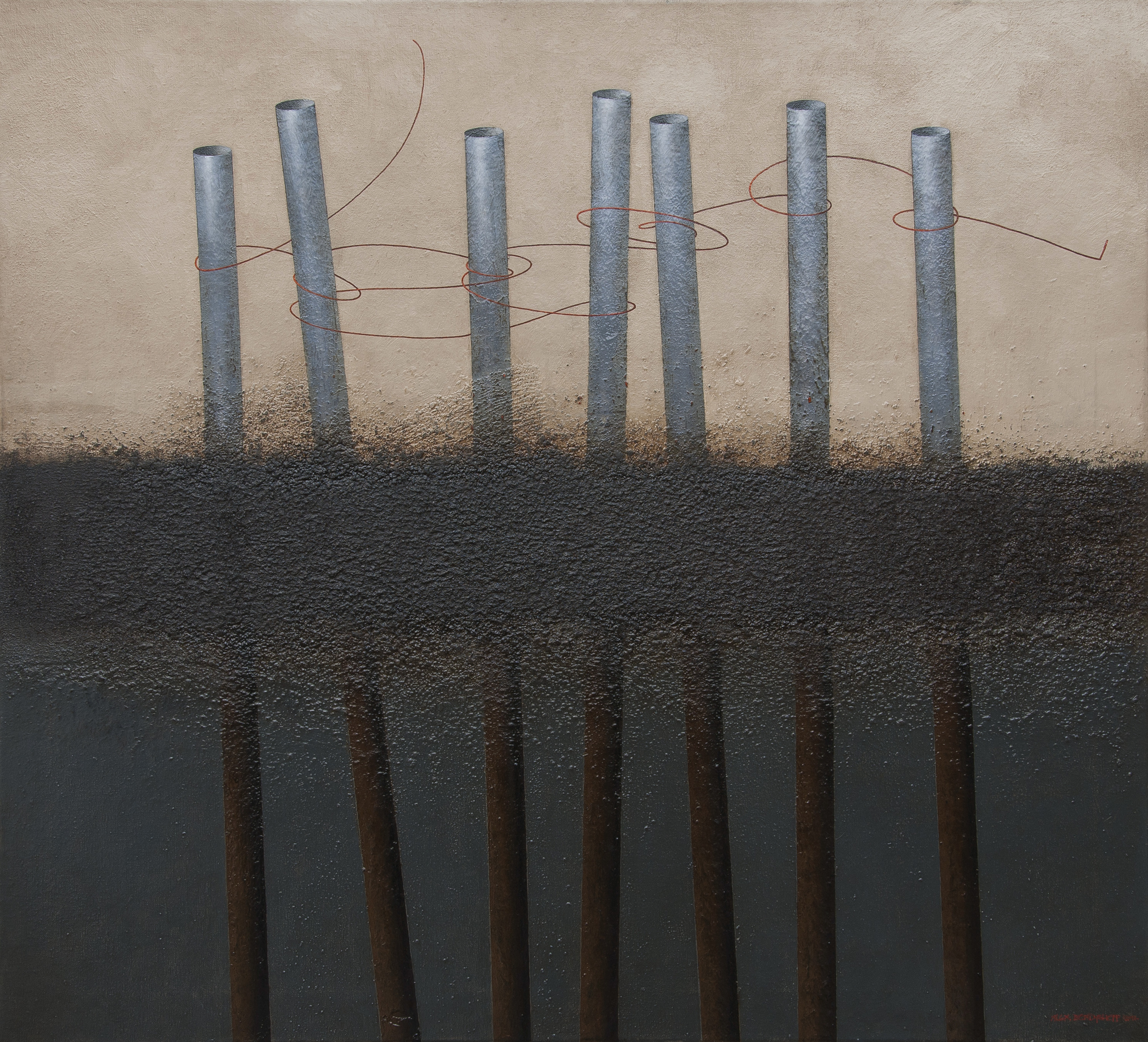 Socium, oil on canvas, 110x120 cm, 2012