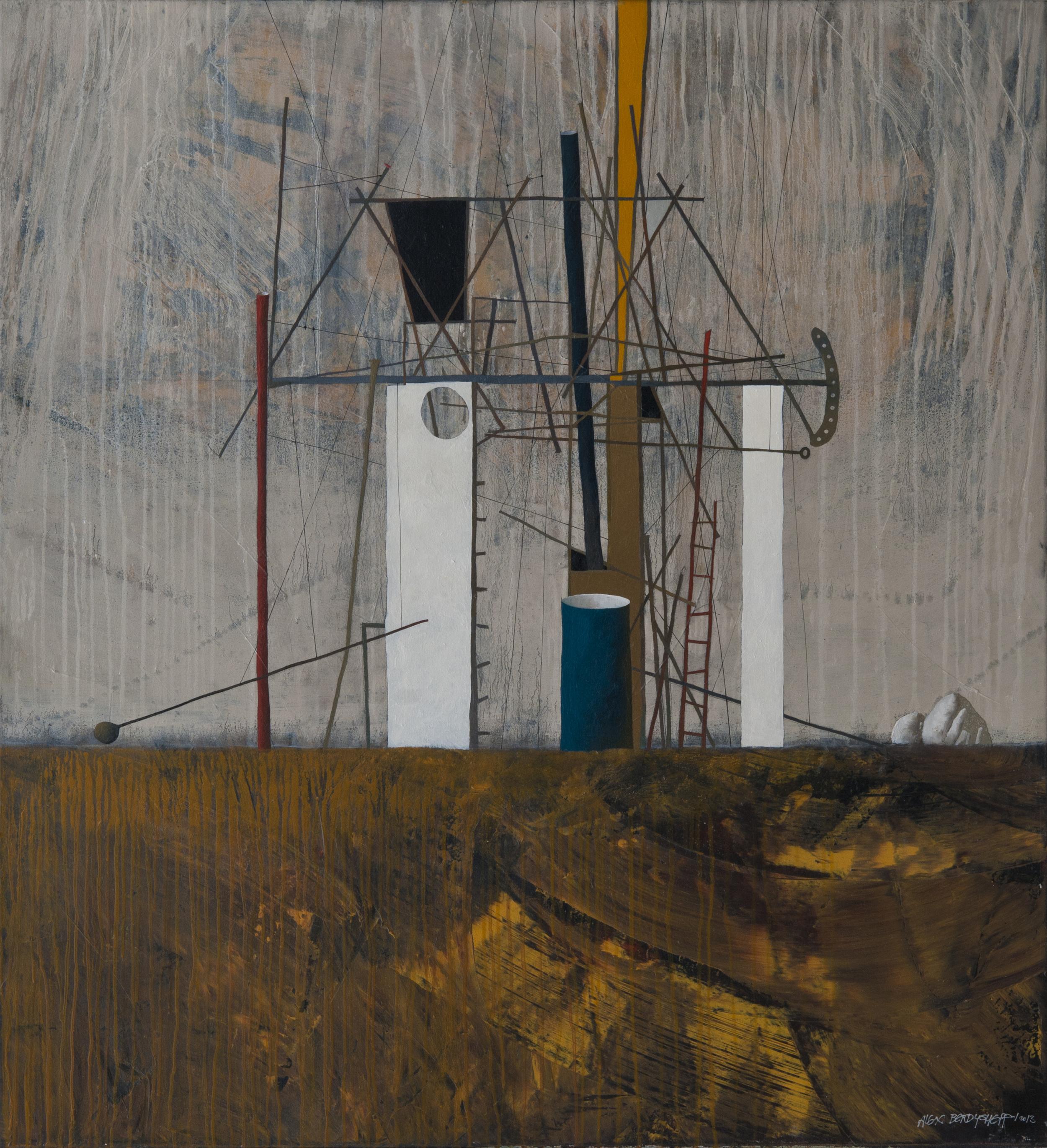 Casa II, oil on canvas, 120x110 cm, 2013