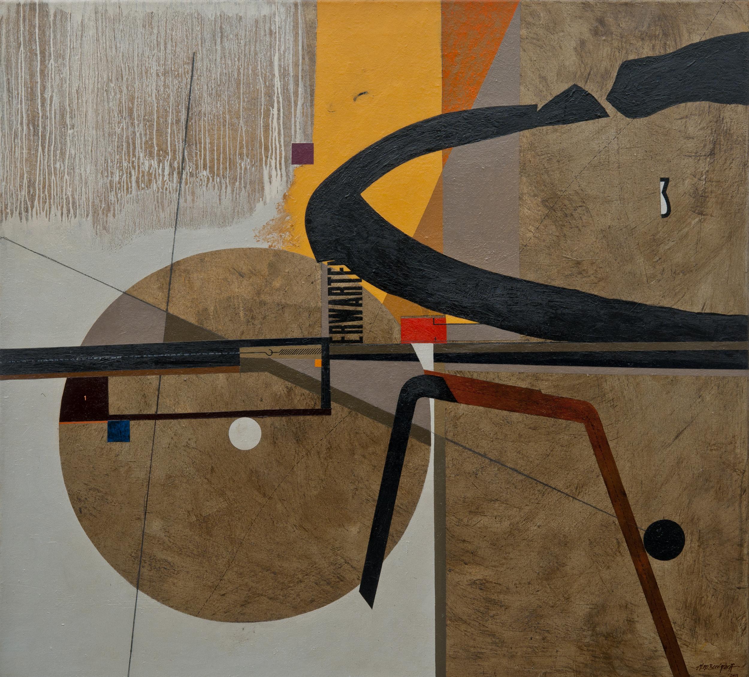 Inner Mechanics of Tensive Expectation, oil on canvas, 110x120 cm, 2013