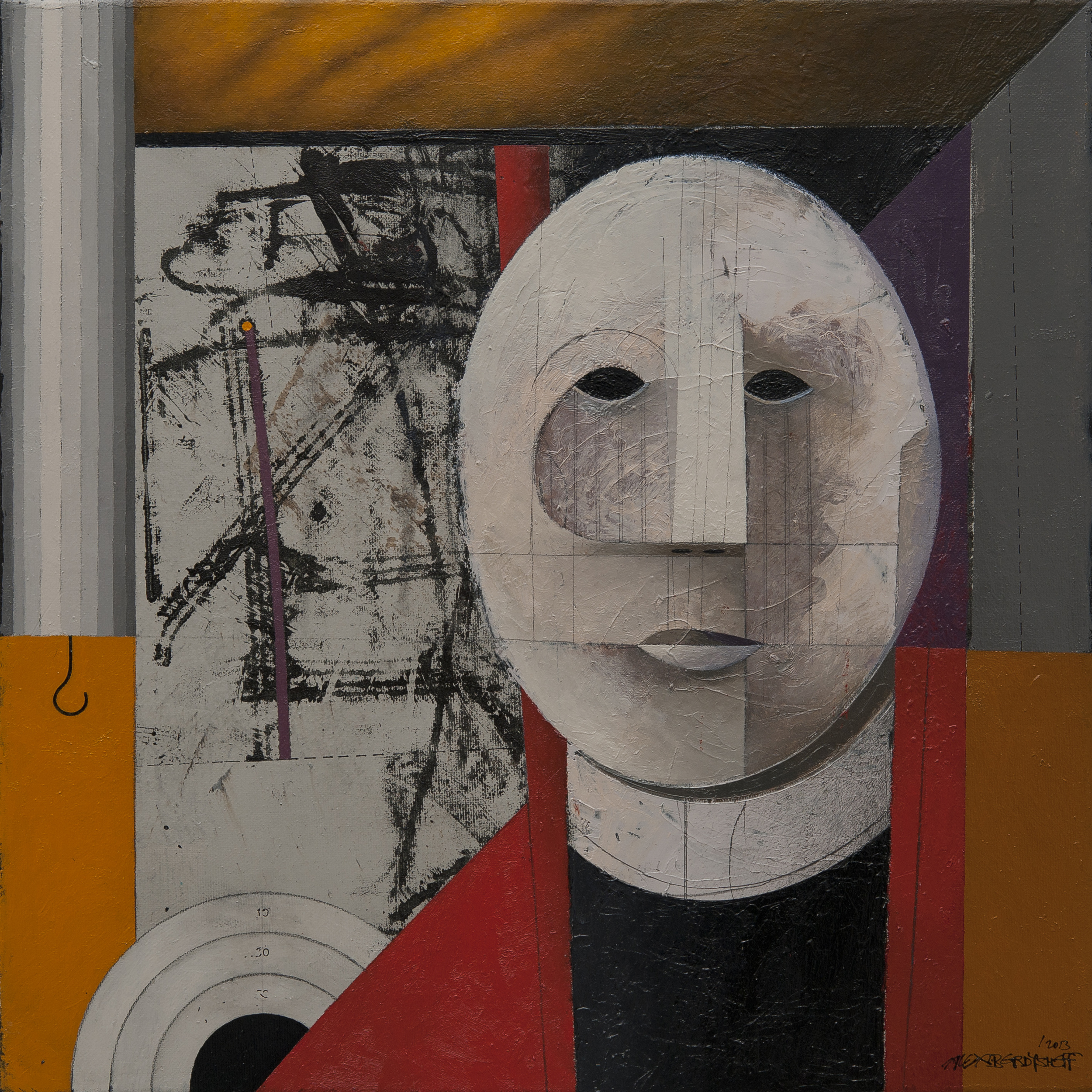 Watcher, oil on canvas, 46x46 cm, 2013