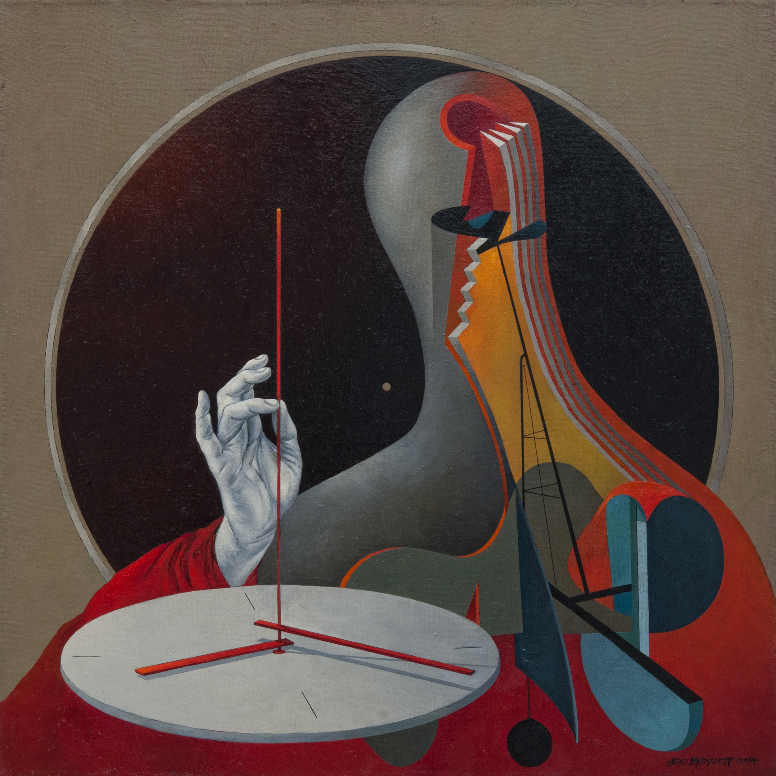Time Keeper, oil on canvas, 85x85 cm, 2015