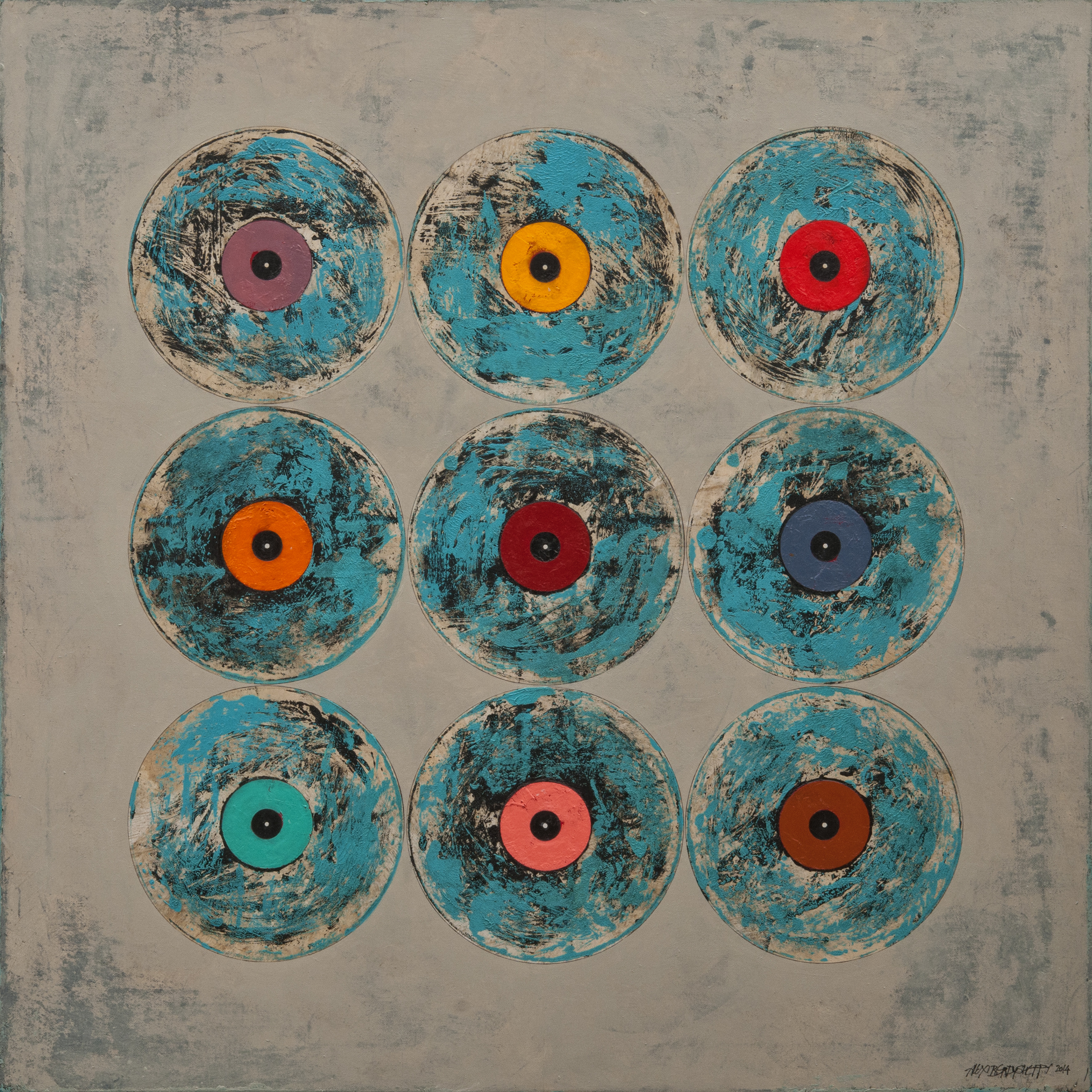 Vinyl, oil on canvas, 85x85 cm, 2014