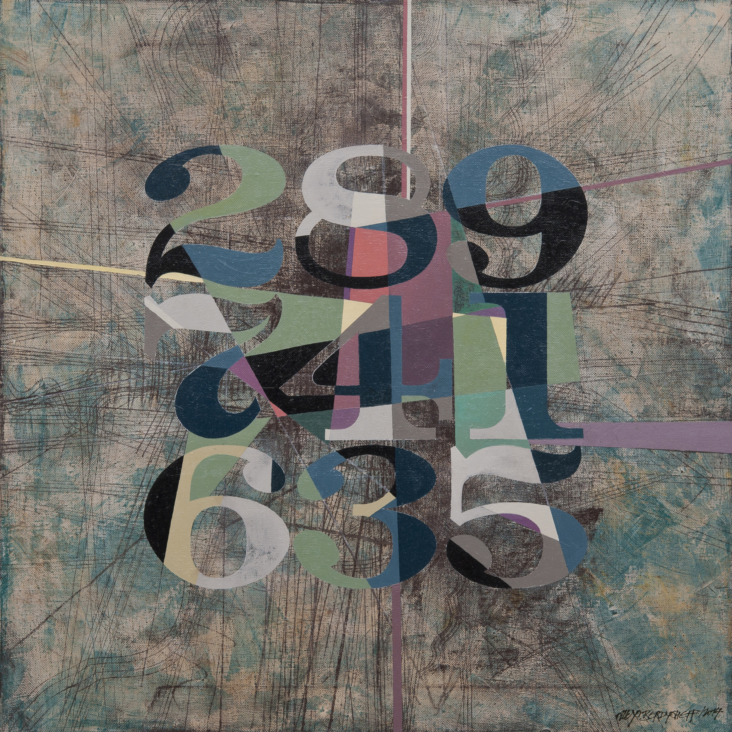 Weird Numbers I, oil on canvas, 85x85 cm, 2014