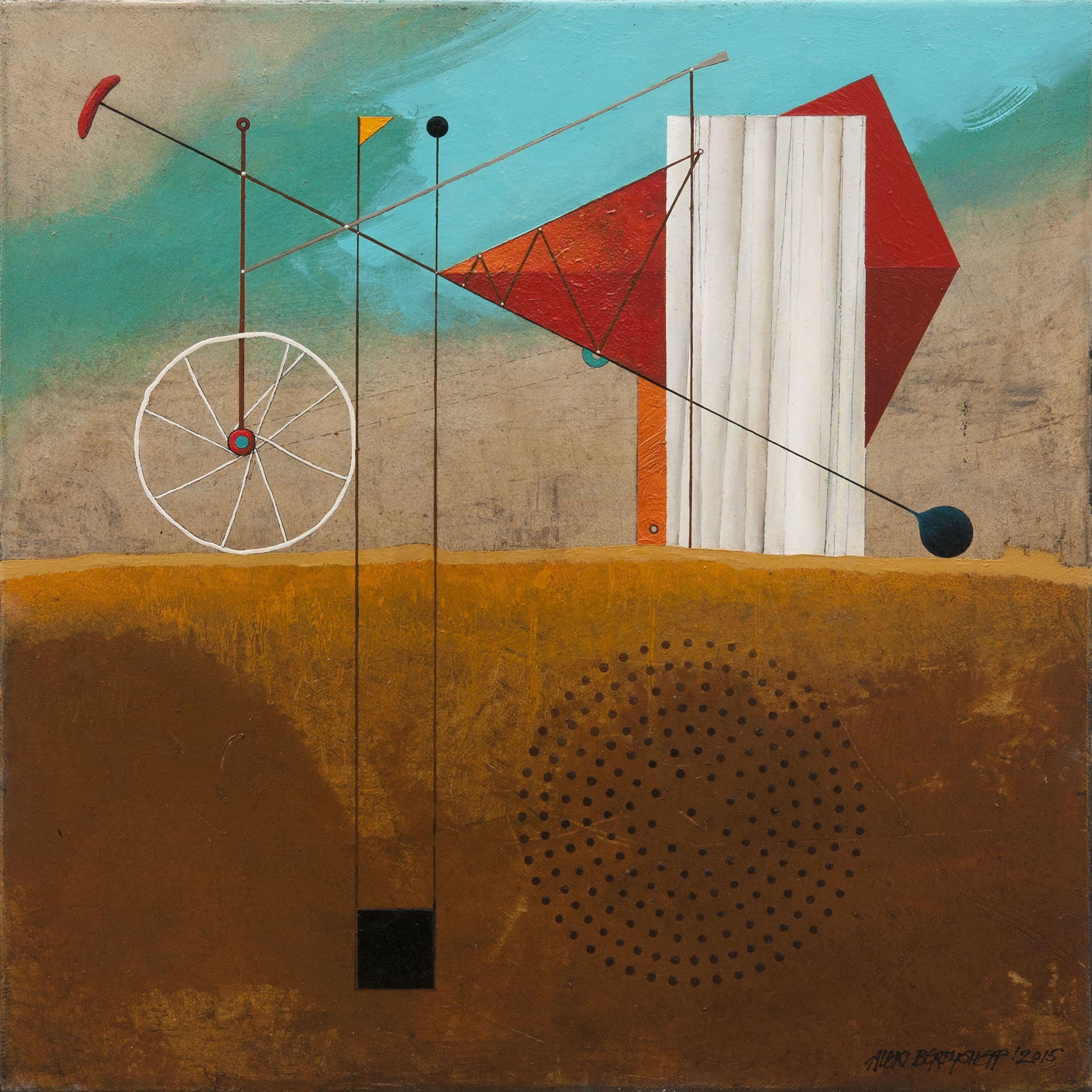 Construction, Oil on canvas, 46x46 cm, 2015