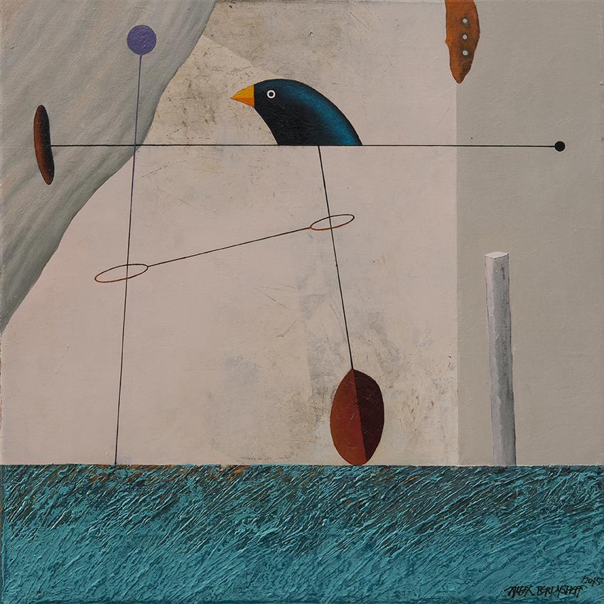 Ephemeral Construction, oil on canvas, 46x46 cm, 2015