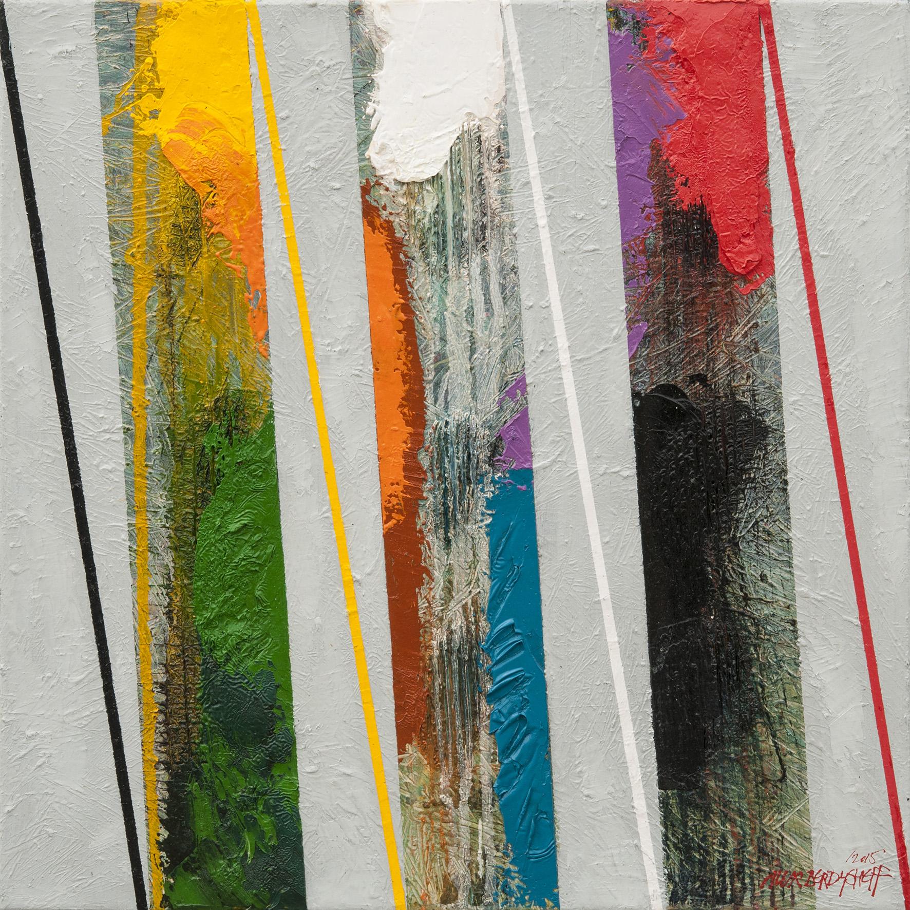 Rhythm I, oil on canvas, 46x46 cm, 2015