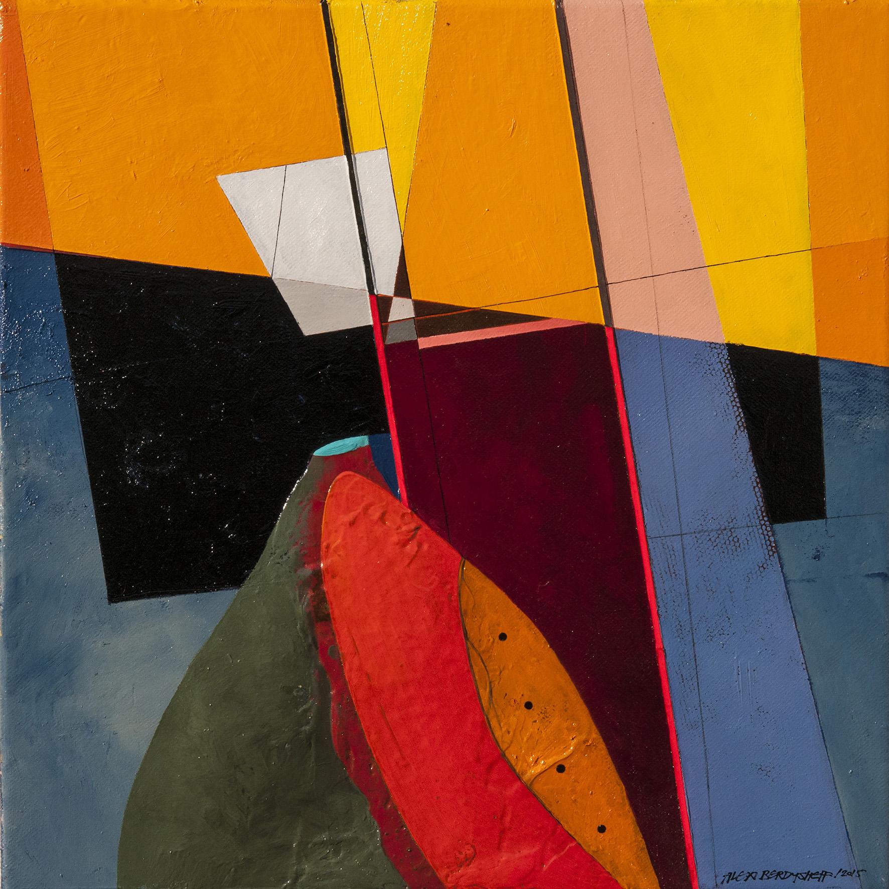 Rhythm II, oil on canvas, 46x46 cm, 2015