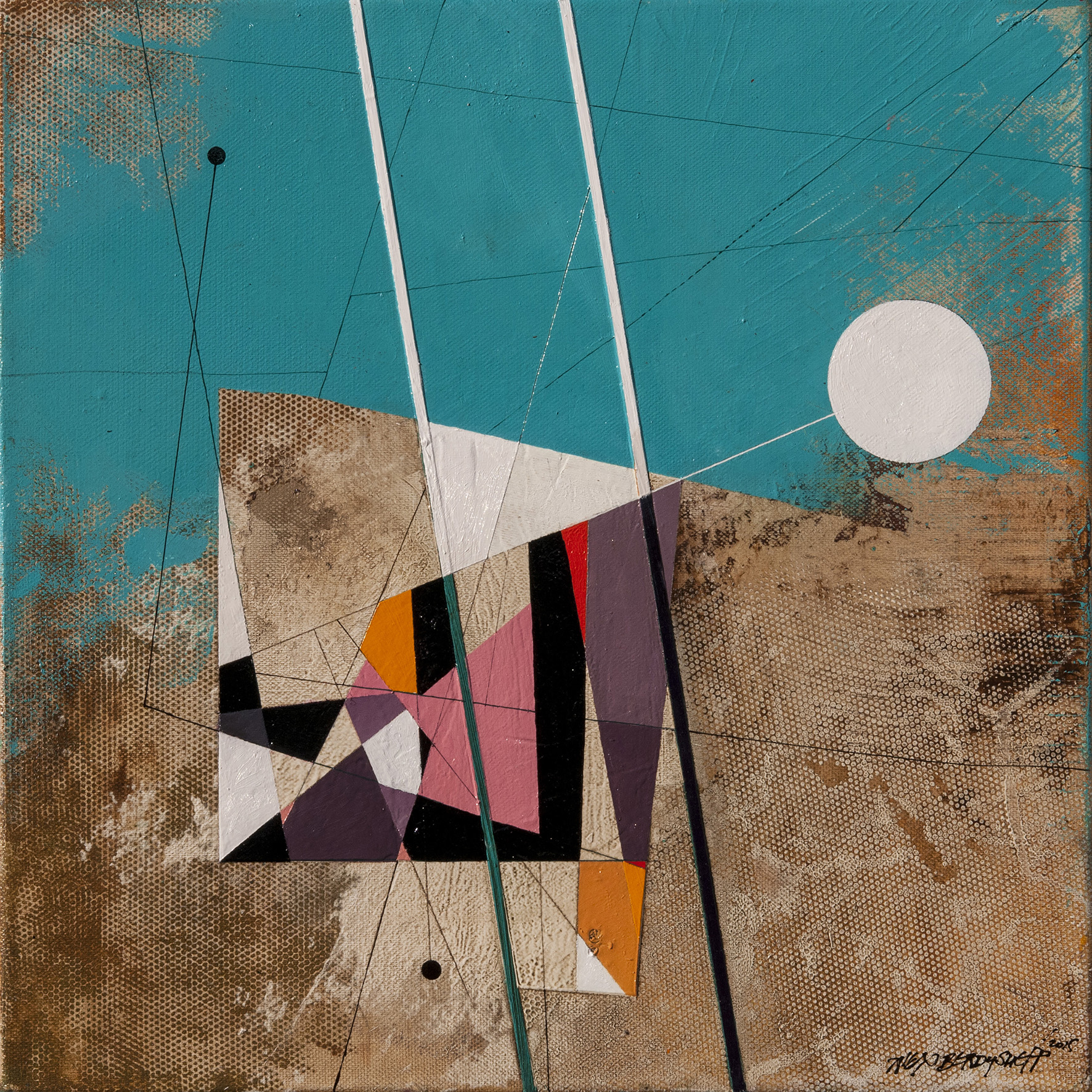 Rhythm IV, oil on canvas, 46x46 cm, 2015