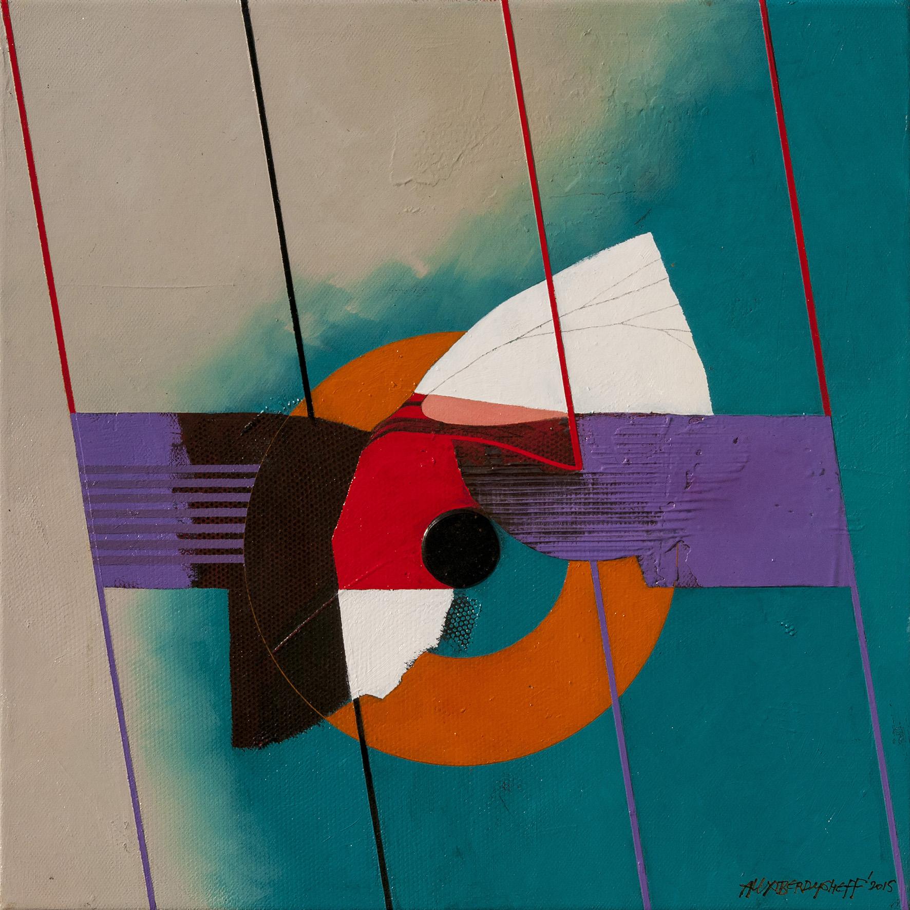 Rhythm VI, oil on canvas, 46x46 cm, 2015