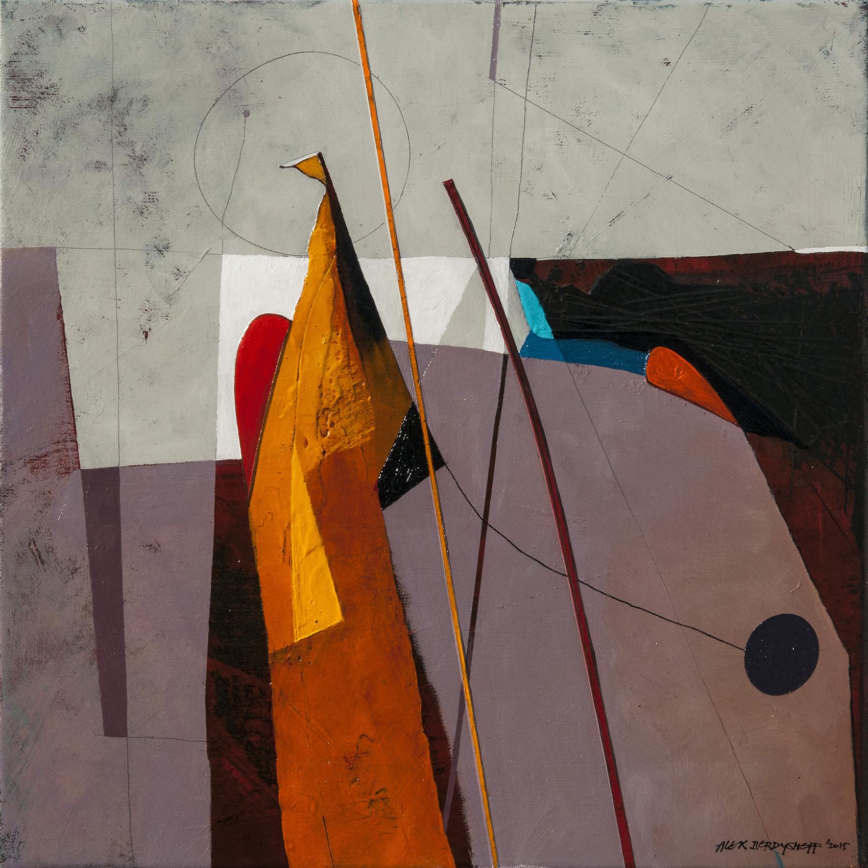 Rhythm VII, oil on canvas, 46x46 cm, 2015