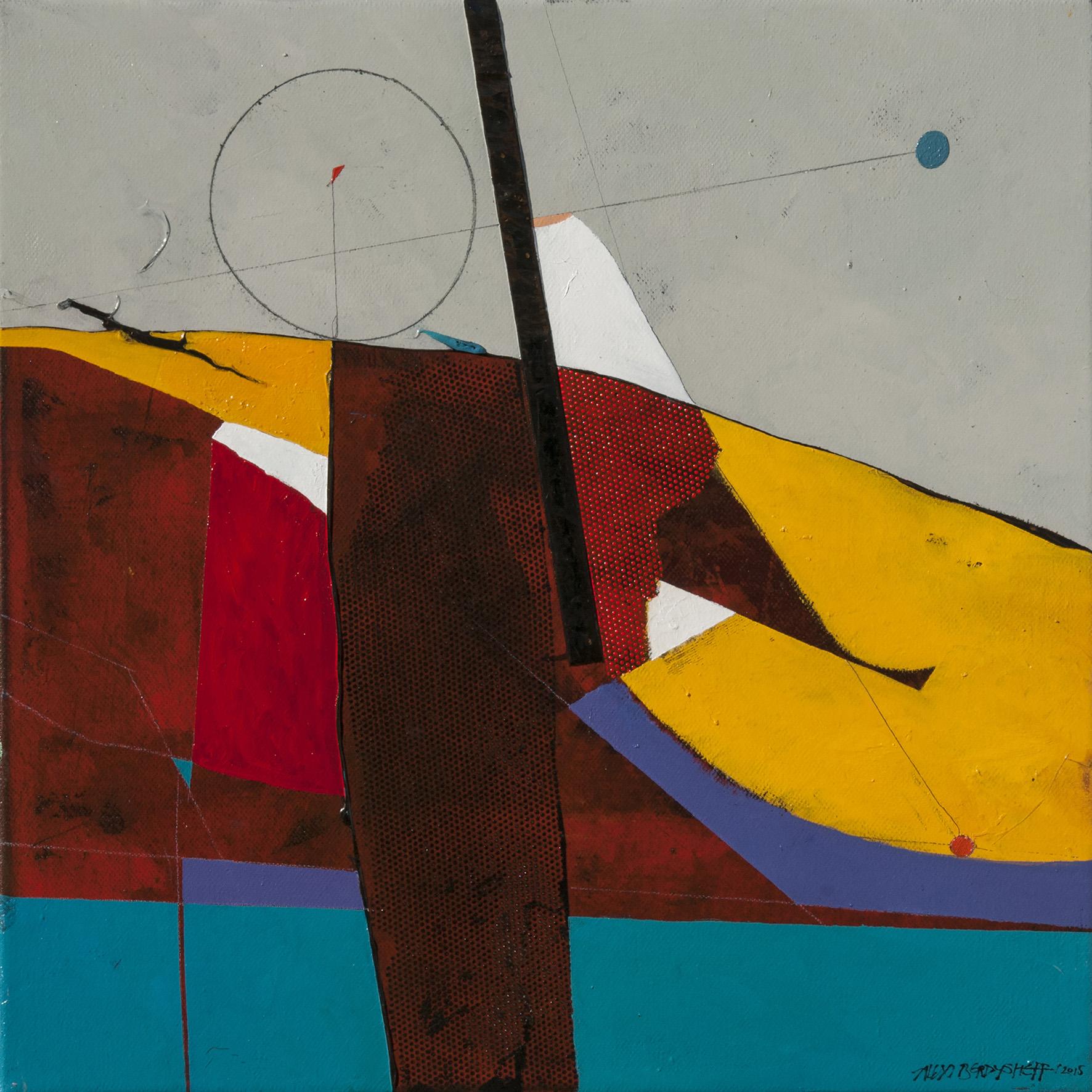 Rhythm VIII, oil on canvas, 46x46 cm, 2015