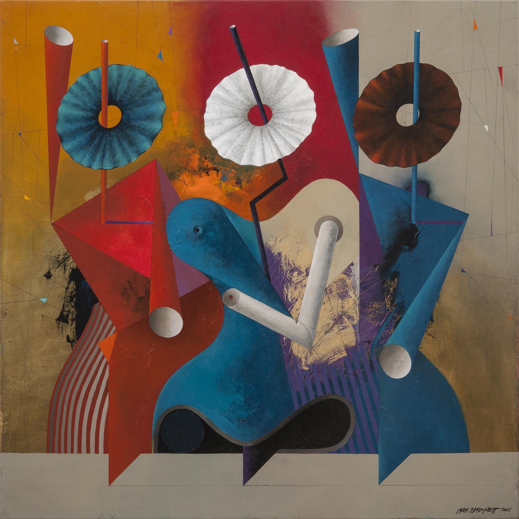 Trio, oil on canvas, 85x85 cm, 2015