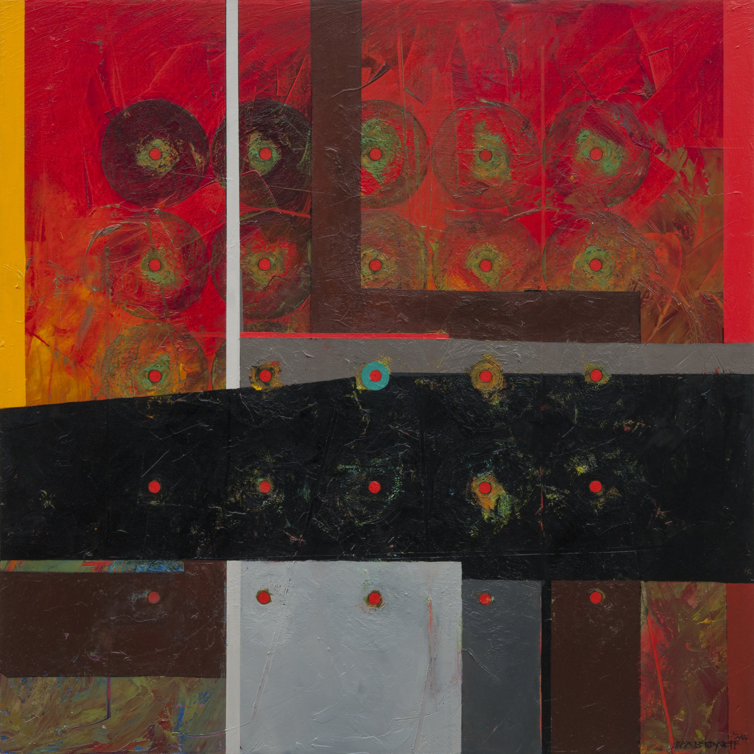 Structure of Chaos II, oil on canvas, 85x85 cm, 2014