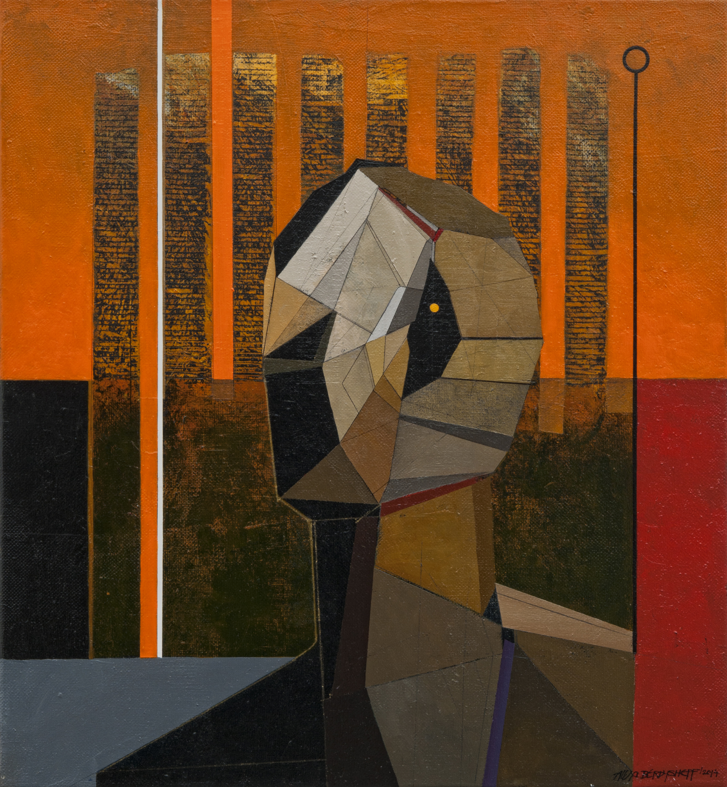 Survivor, oil on canvas, 60x55 cm, 2014