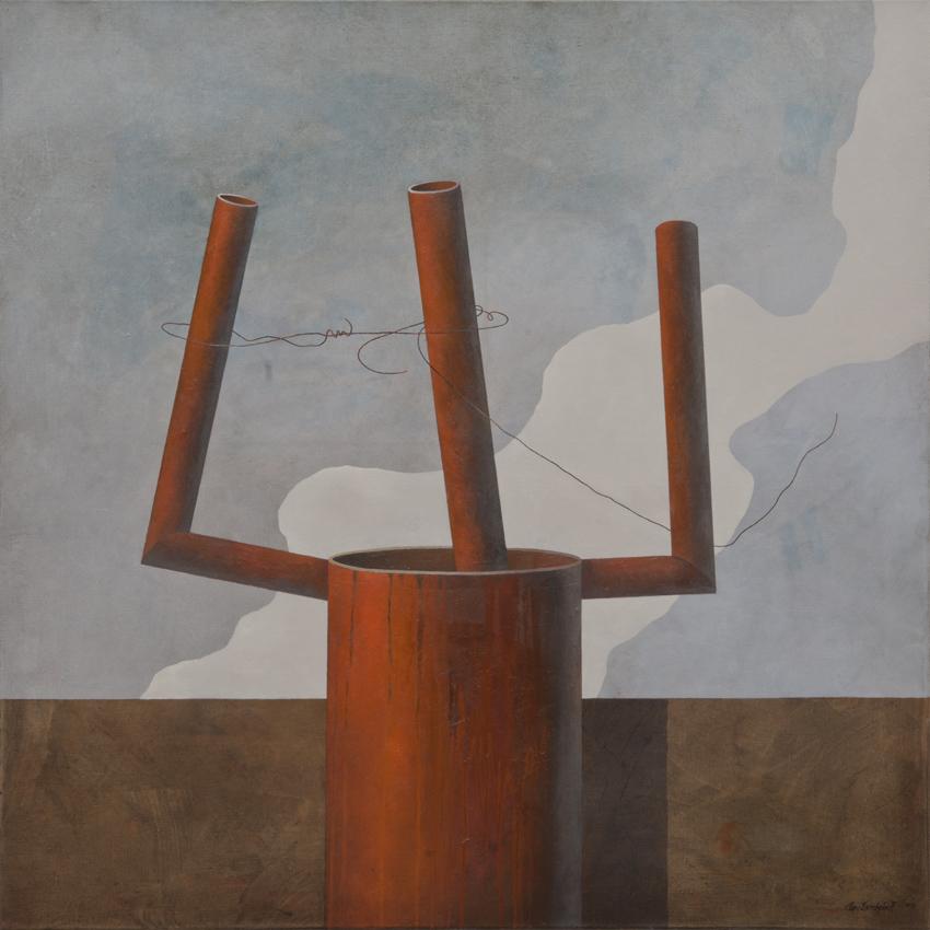 Resistance, oil on canvas, 120x120 cm, 2013
