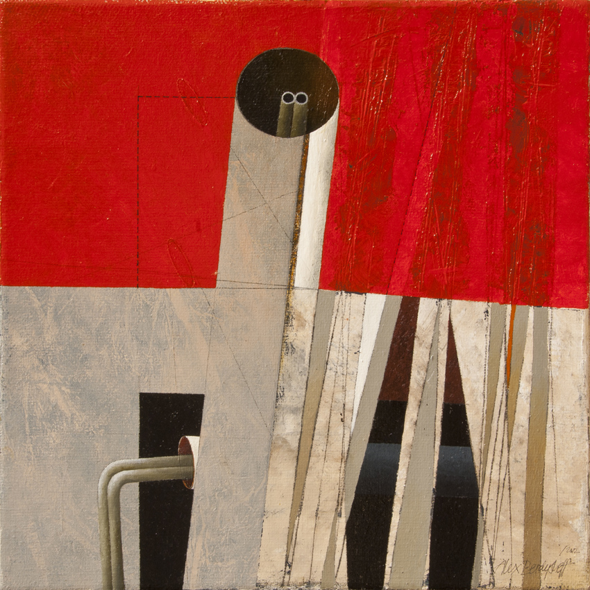 Urbanoid, oil on canvas, 46x46 cm, 2012
