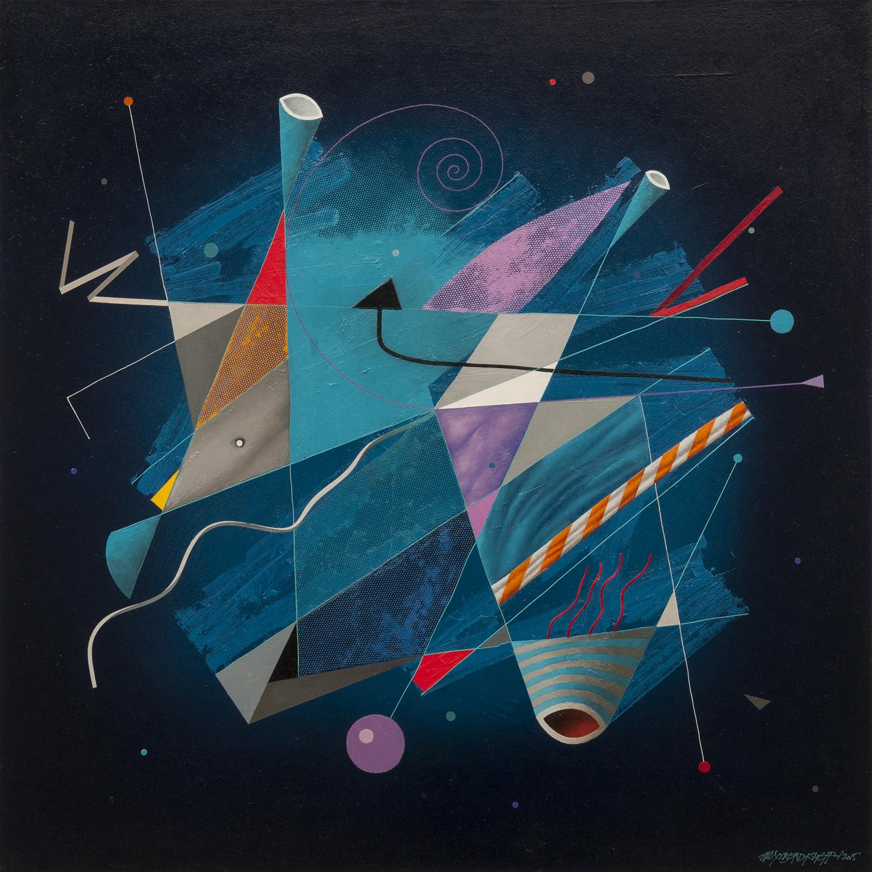 Turbulence I, oil on canvas, 85x85cm