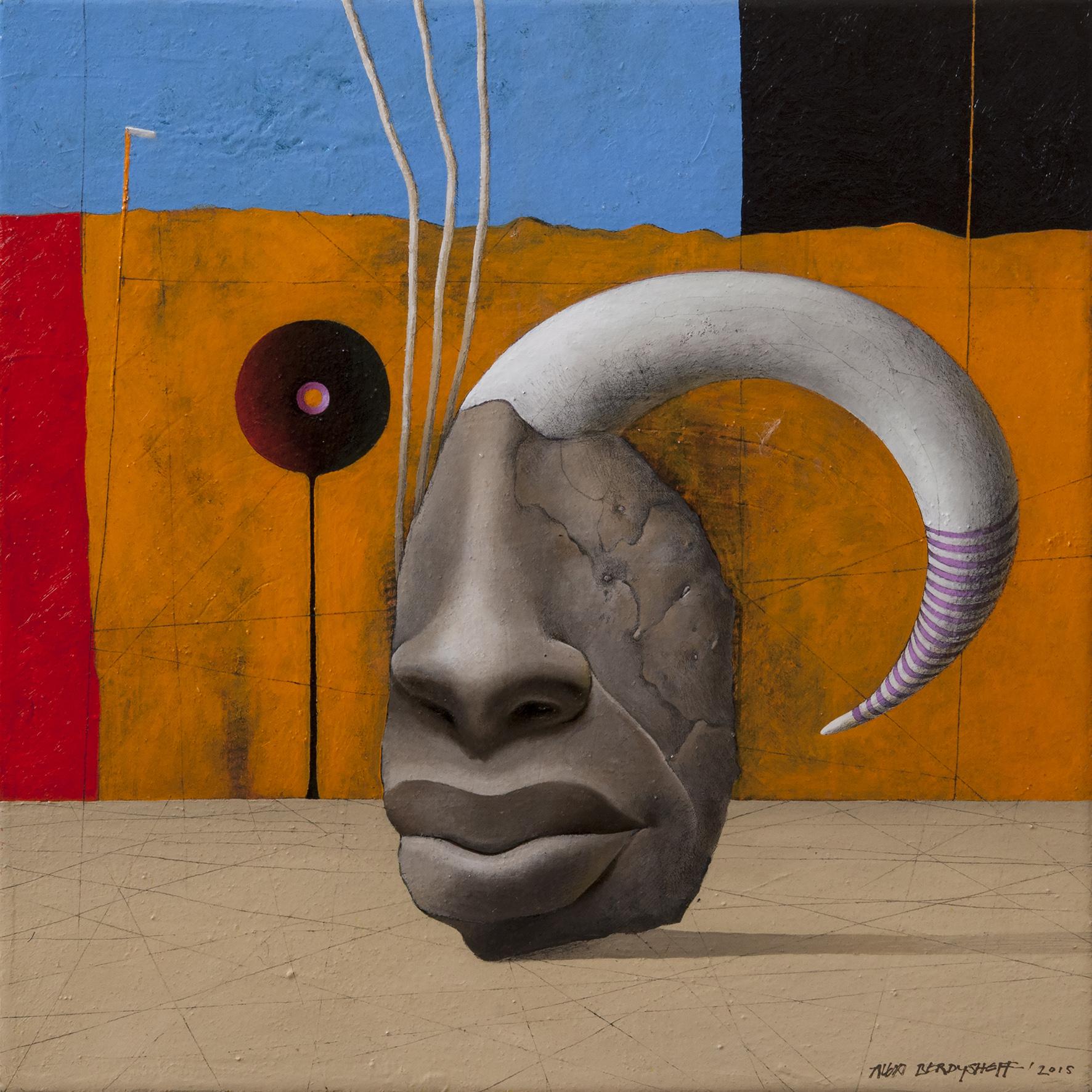 Eternal Presence, oil on canvas, 46x46cm