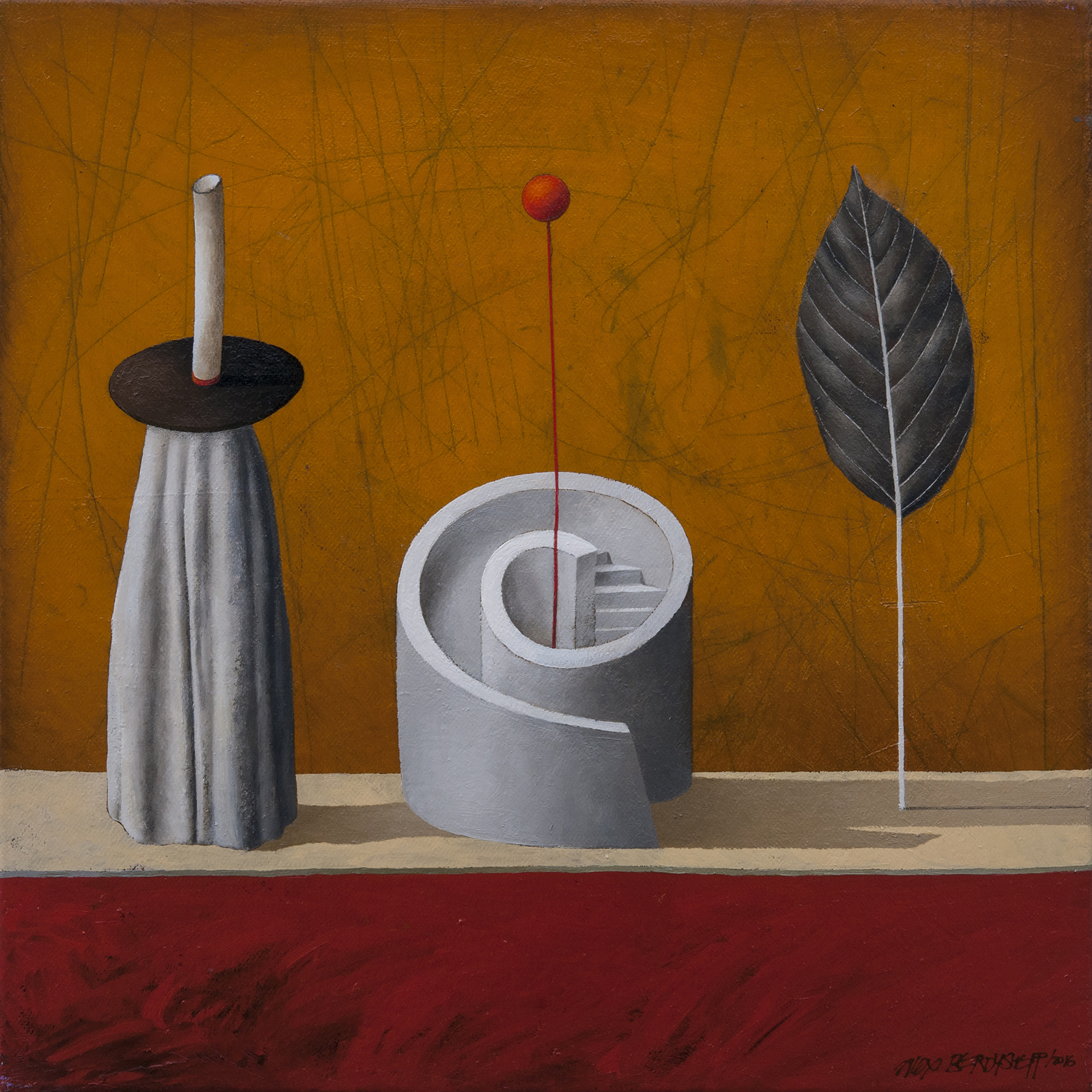 Performing Objects II, oil on canvas, 46x46cm