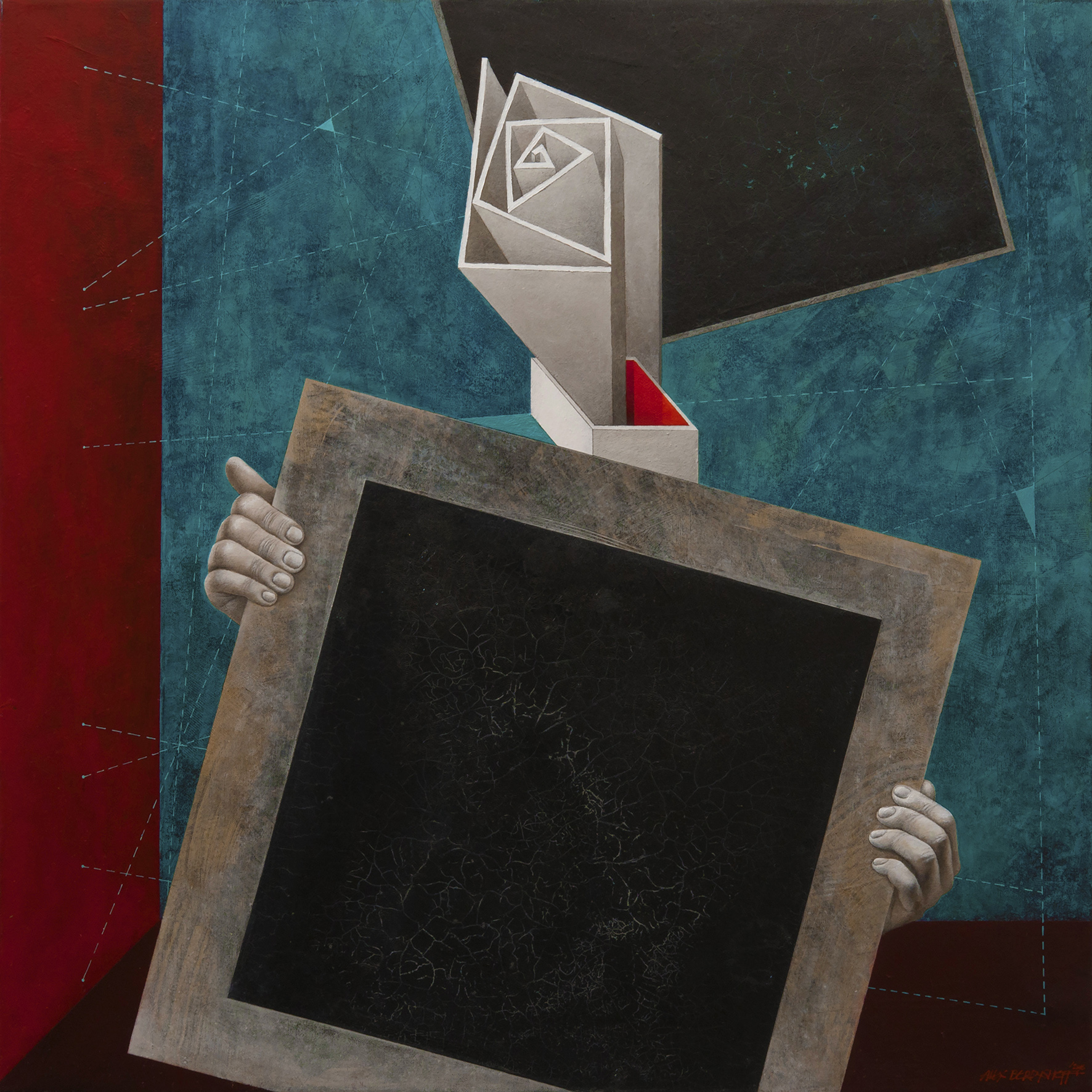 Black Square Presentation, oil on canvas, 85x85 cm, 2016