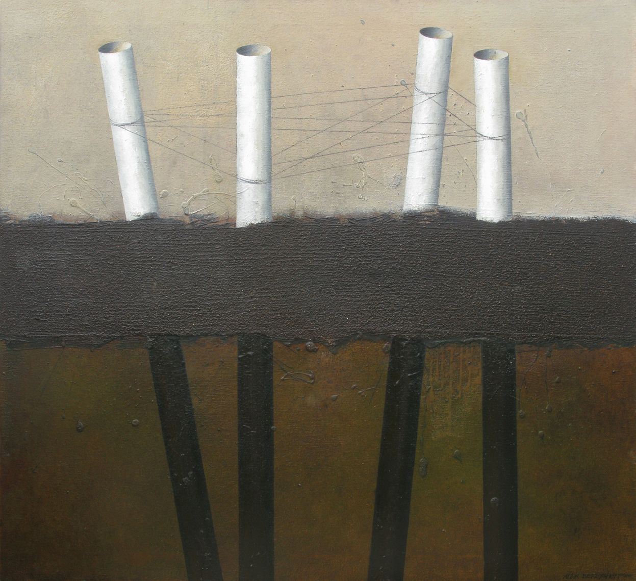 CONNECTIONS - SEPARATIONS, OIL ON CANVAS, 110X120CM, 2010