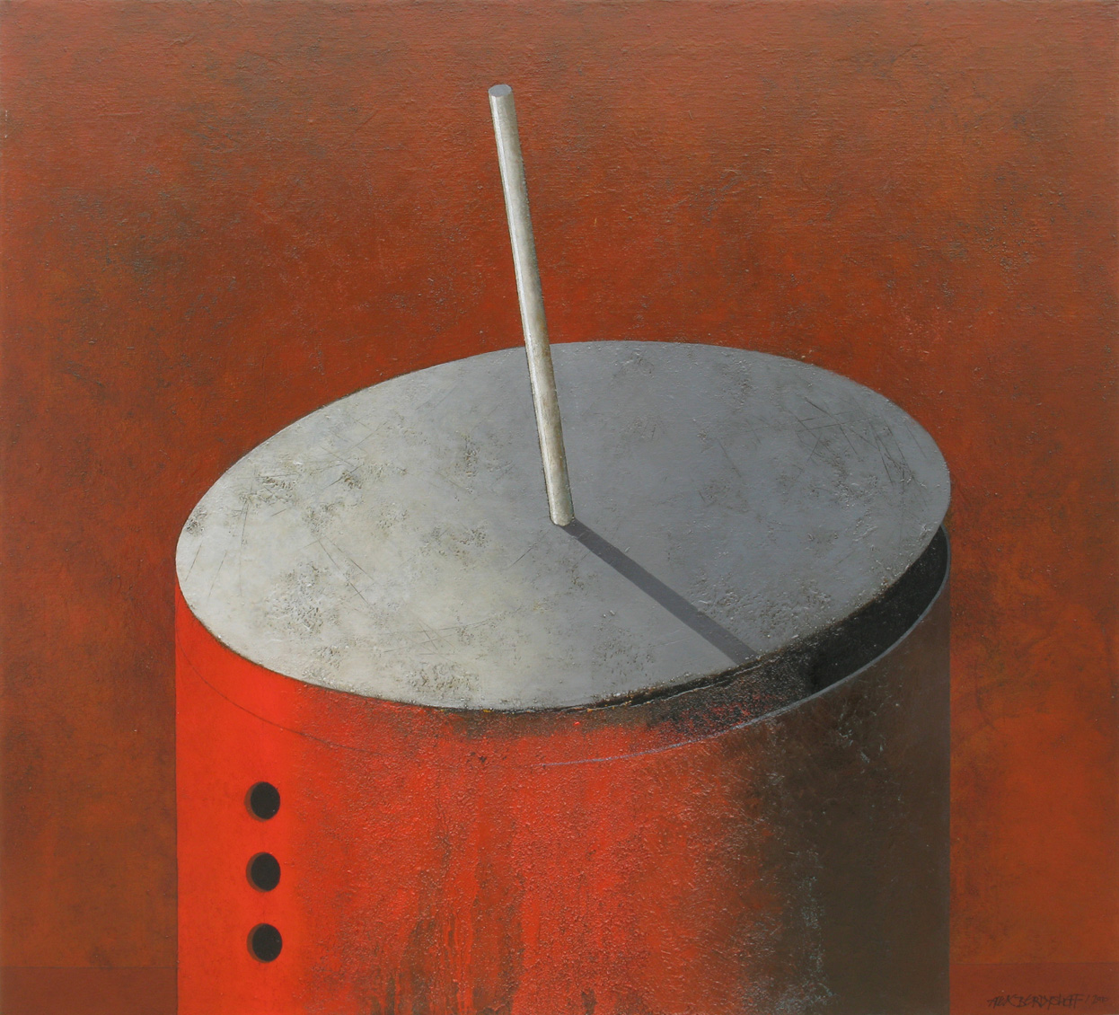 DEVICE, OIL ON CANVAS, 110X120CM, 2010