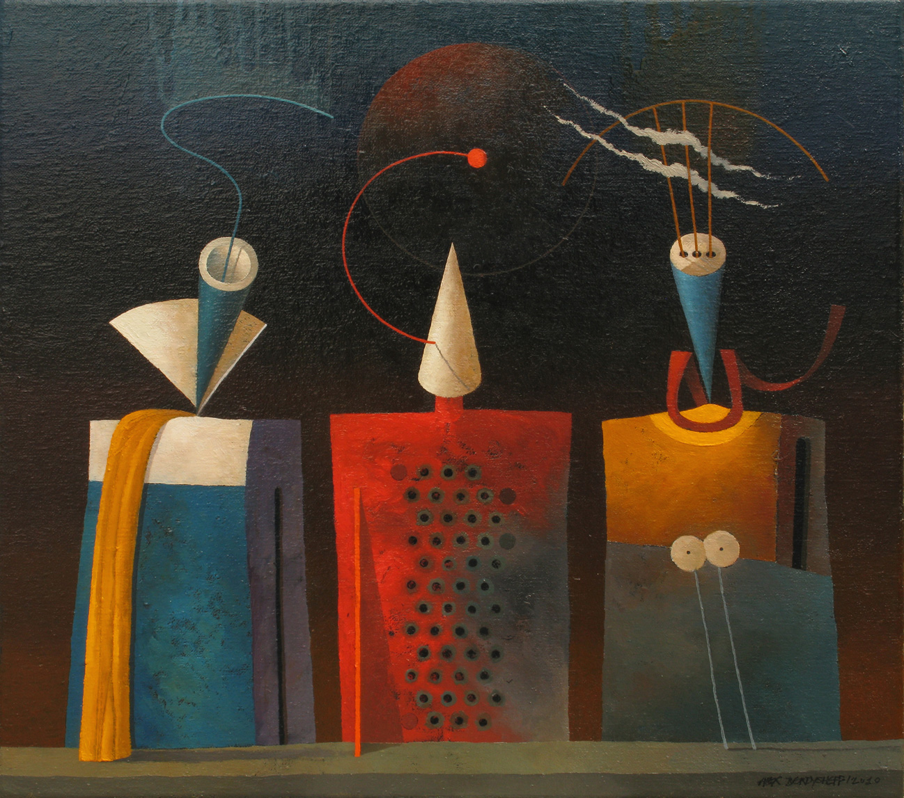 PROTOTYPES 234, OIL ON CANVAS, 55X60CM, 2010