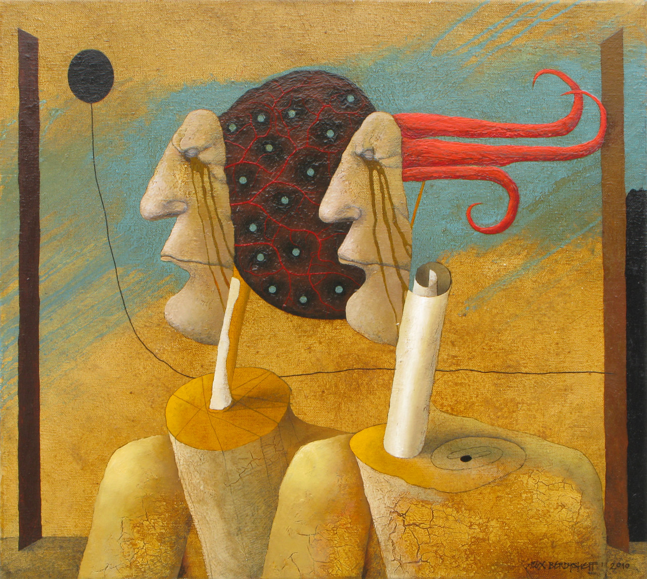 OBSERVERS, OIL ON CANVAS, 55X60CM, 2010