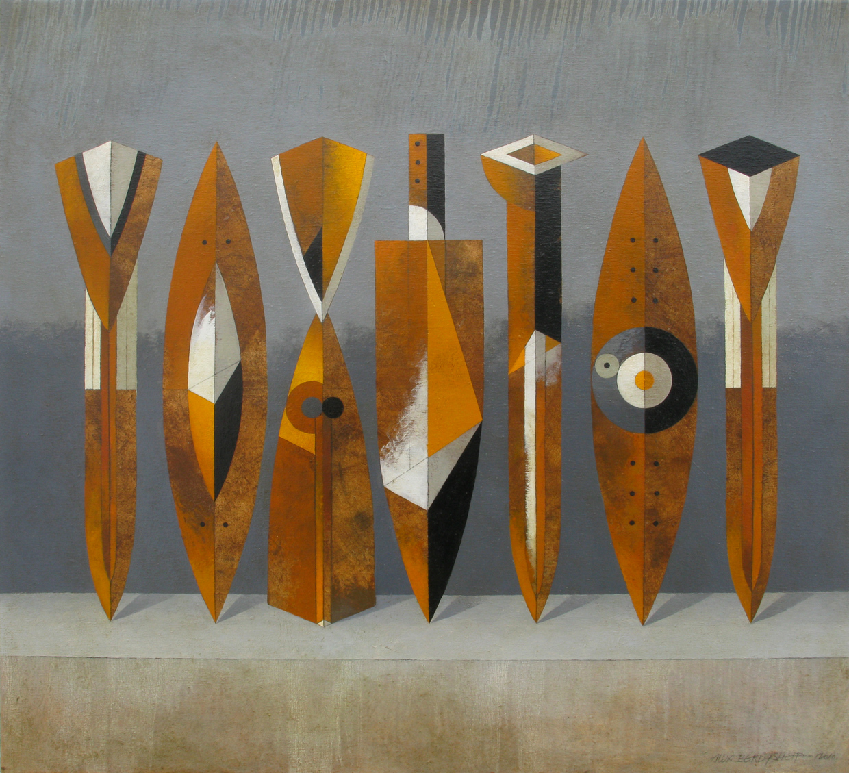 TROPHY II, OIL ON CANVAS, 110X120CM, 2010