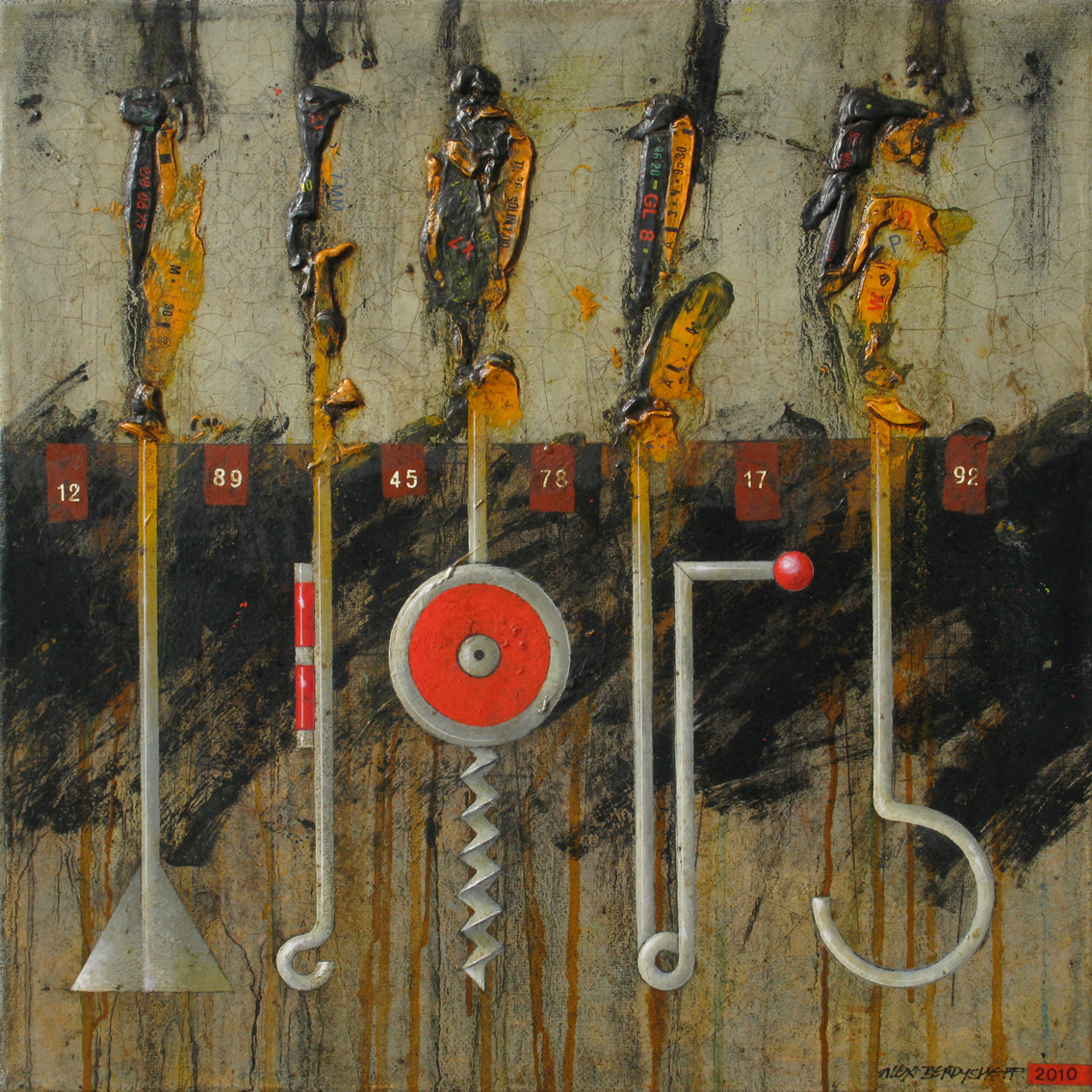 TOOLBOX II, OIL ON CANVAS, 46X46СМ, 2010