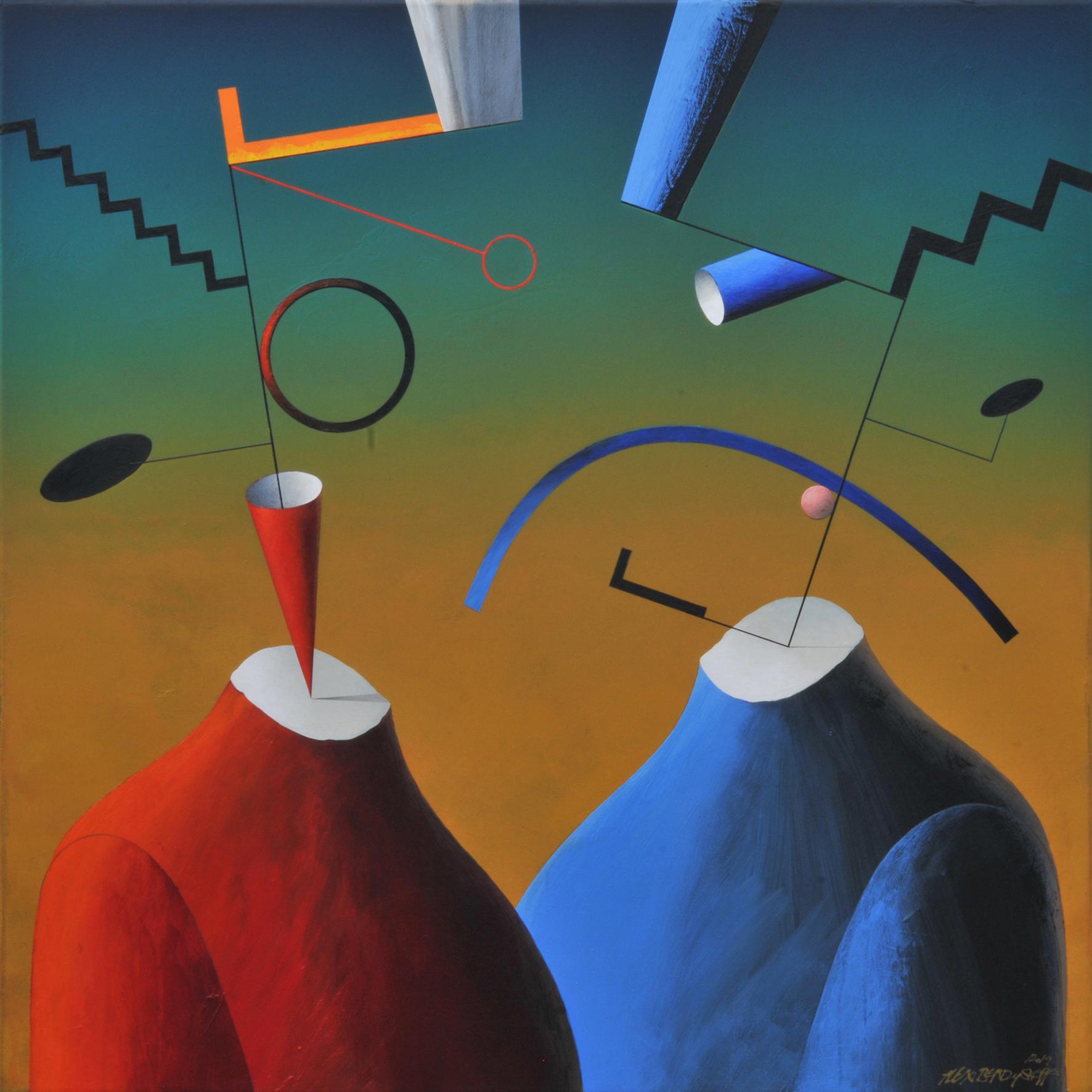 Conversation, acrylic on canvas, 85x85 cm, 2019