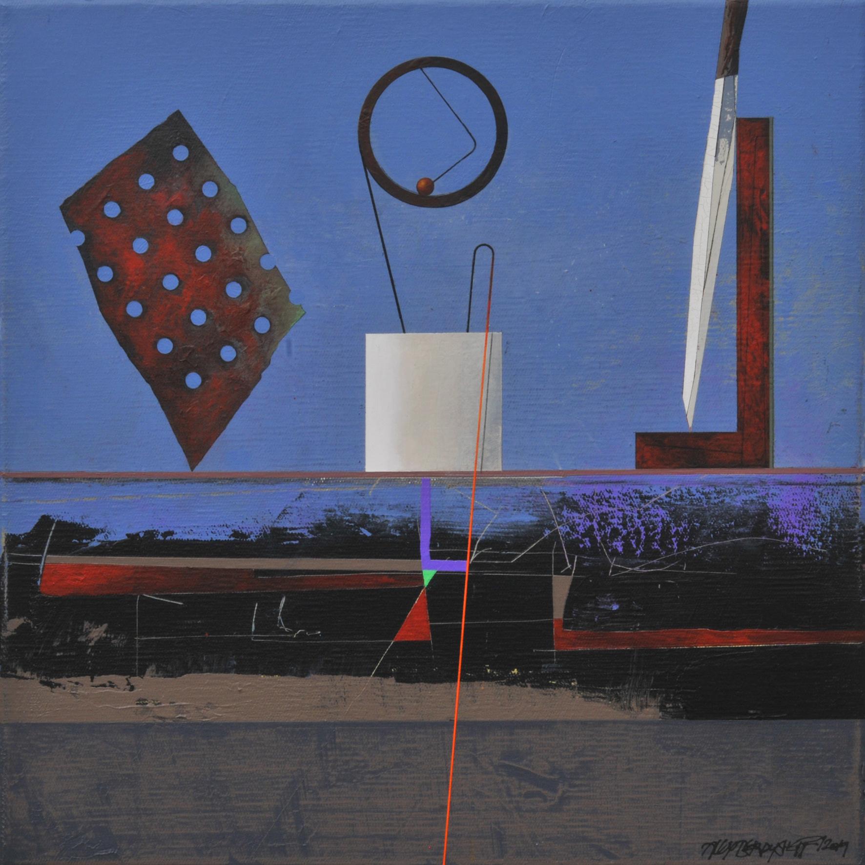 Evidences I, acrylic on canvas, 46x46 cm, 2019