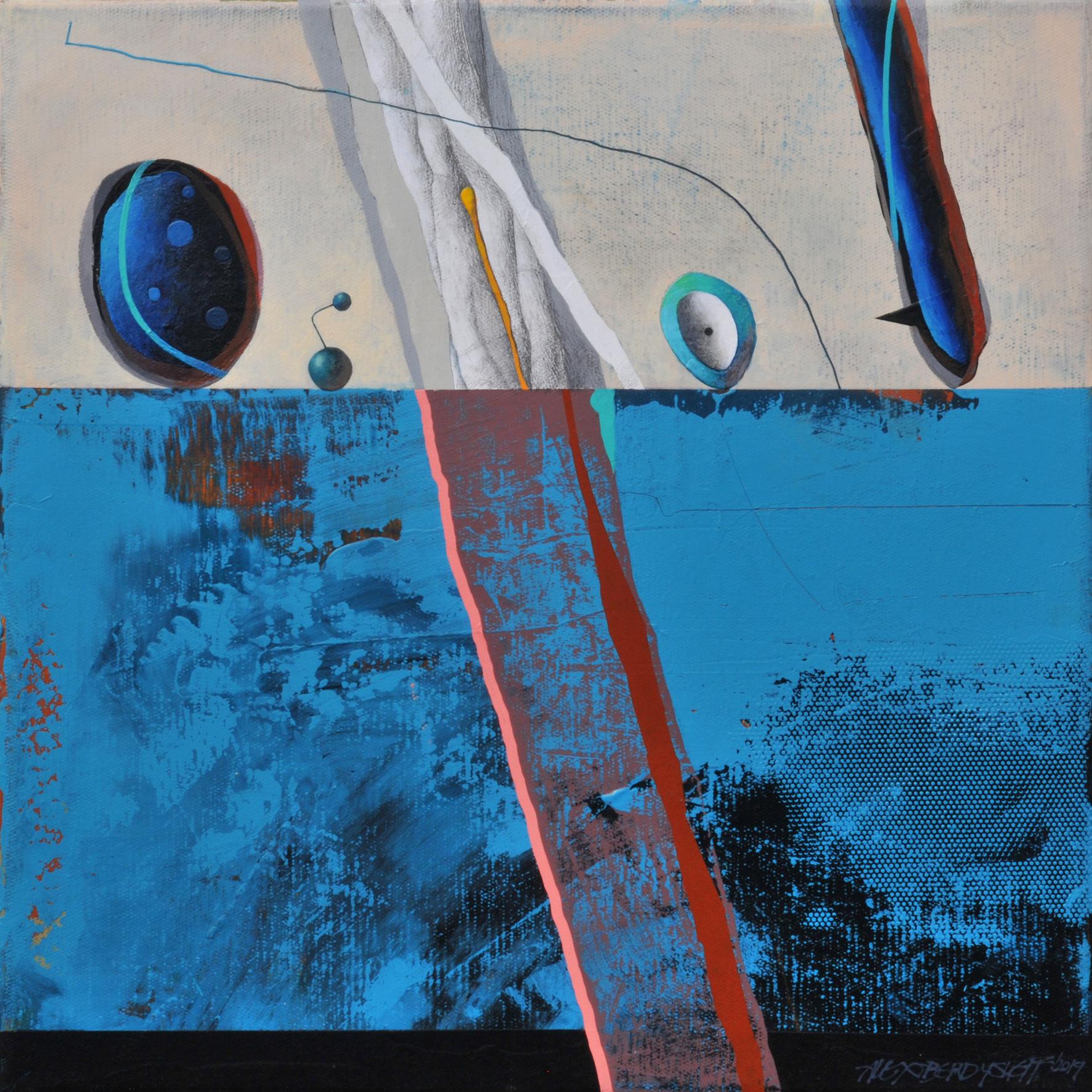 Evidences II, acrylic on canvas, 46x46 cm, 2019