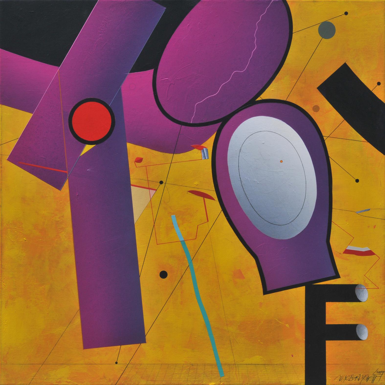 Attraction, acrylic on canvas, 85x85 cm, 2019