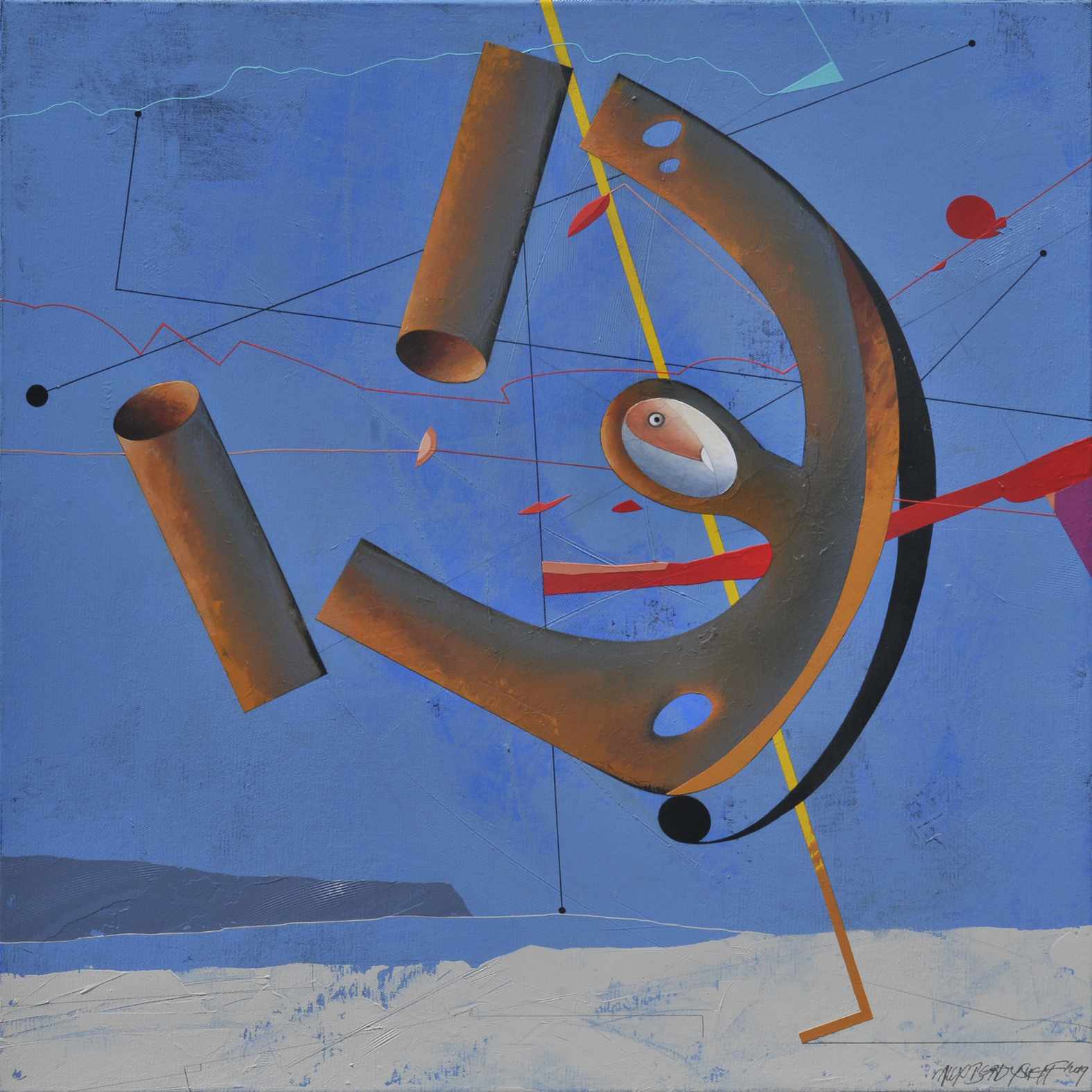 Temporary State, acrylic on canvas, 85x85 cm, 2019
