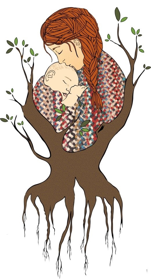 A graphic a friend made for me when I was pregnant with my first child.
