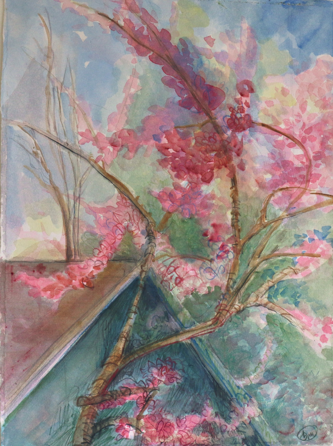 Hours: lauds- cherry blossoms  was selected to be in the Huntington Art Council Juried show