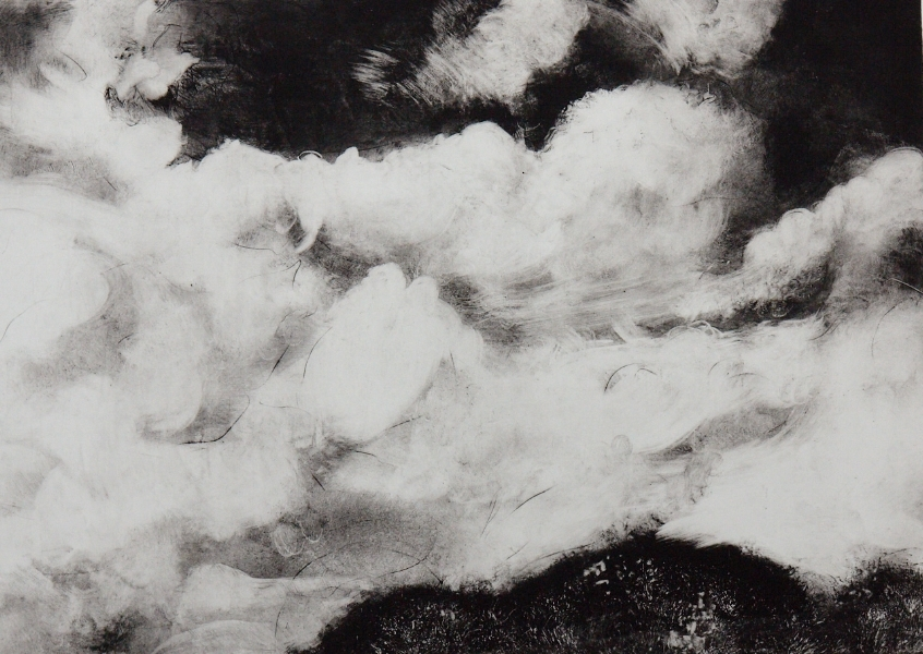 crowd of clouds 941  solarplate print  2017   bybeth vendryes williams