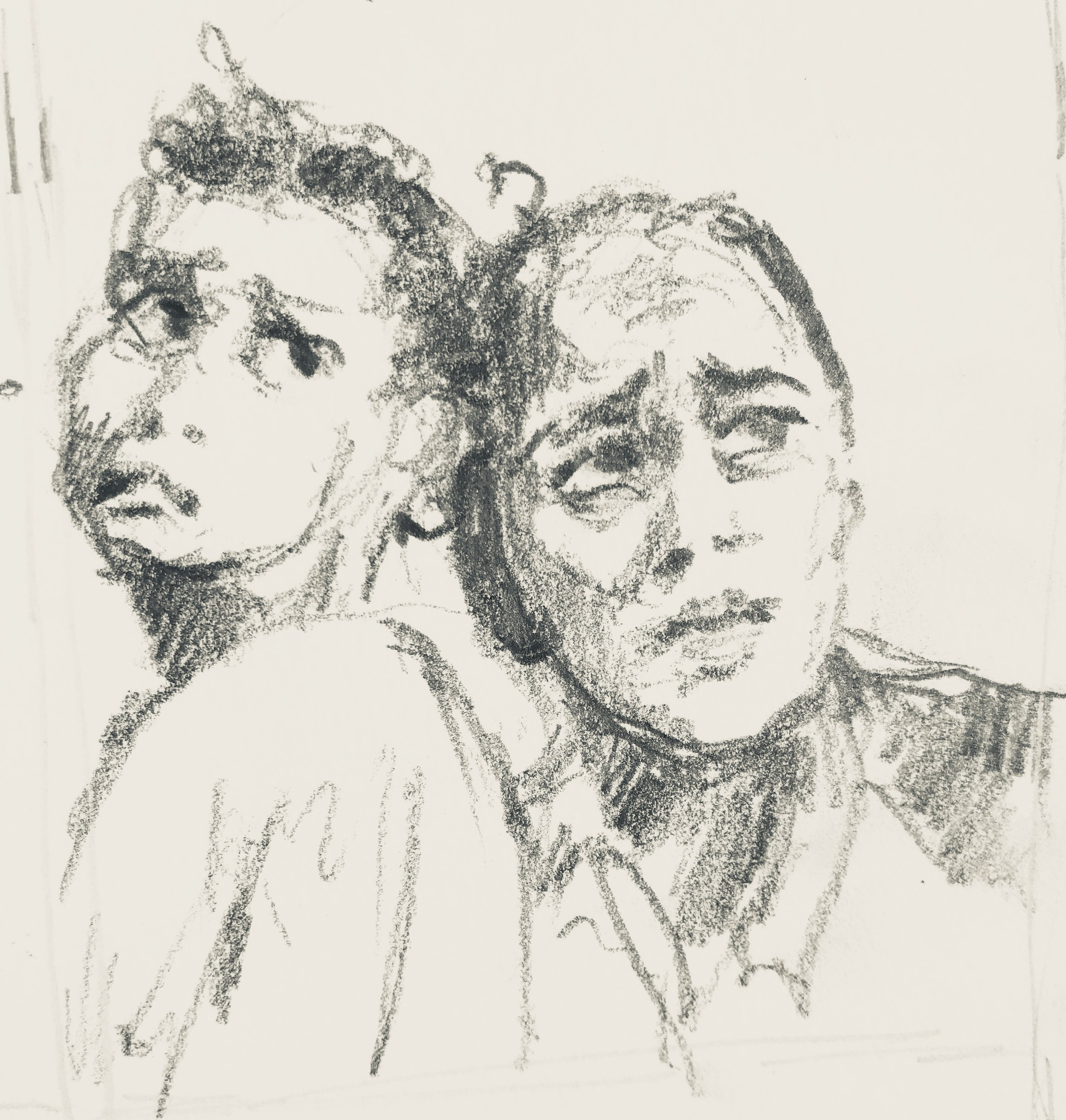 """remember compassion study   5' x 4""""      pencil/ journal   beth vendryes williams"""