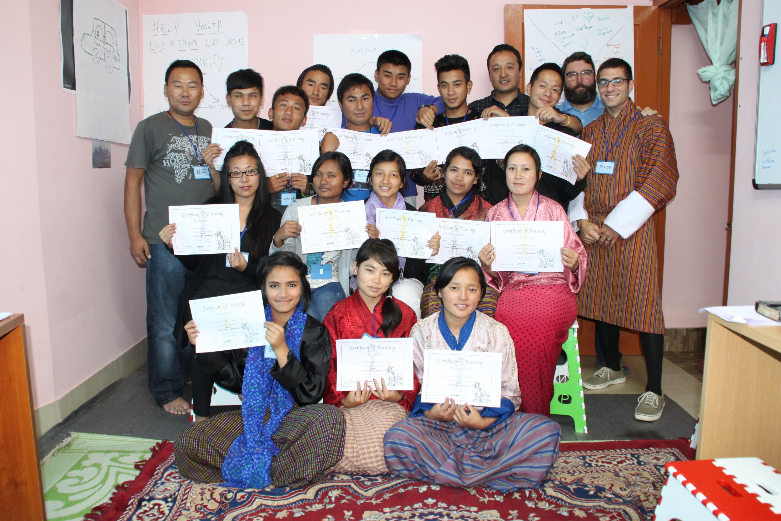 Bhutan Training 2014 Group.JPG